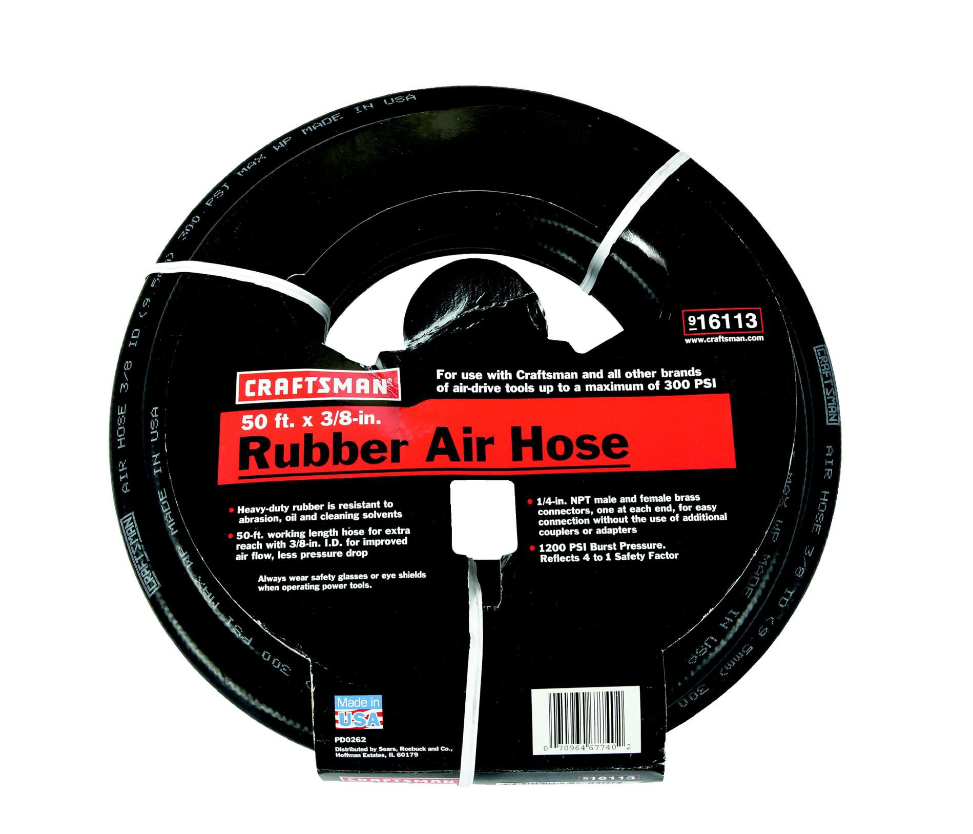 Craftsman 3/8 in. x 50 ft. Air Hose, Heavy-Duty