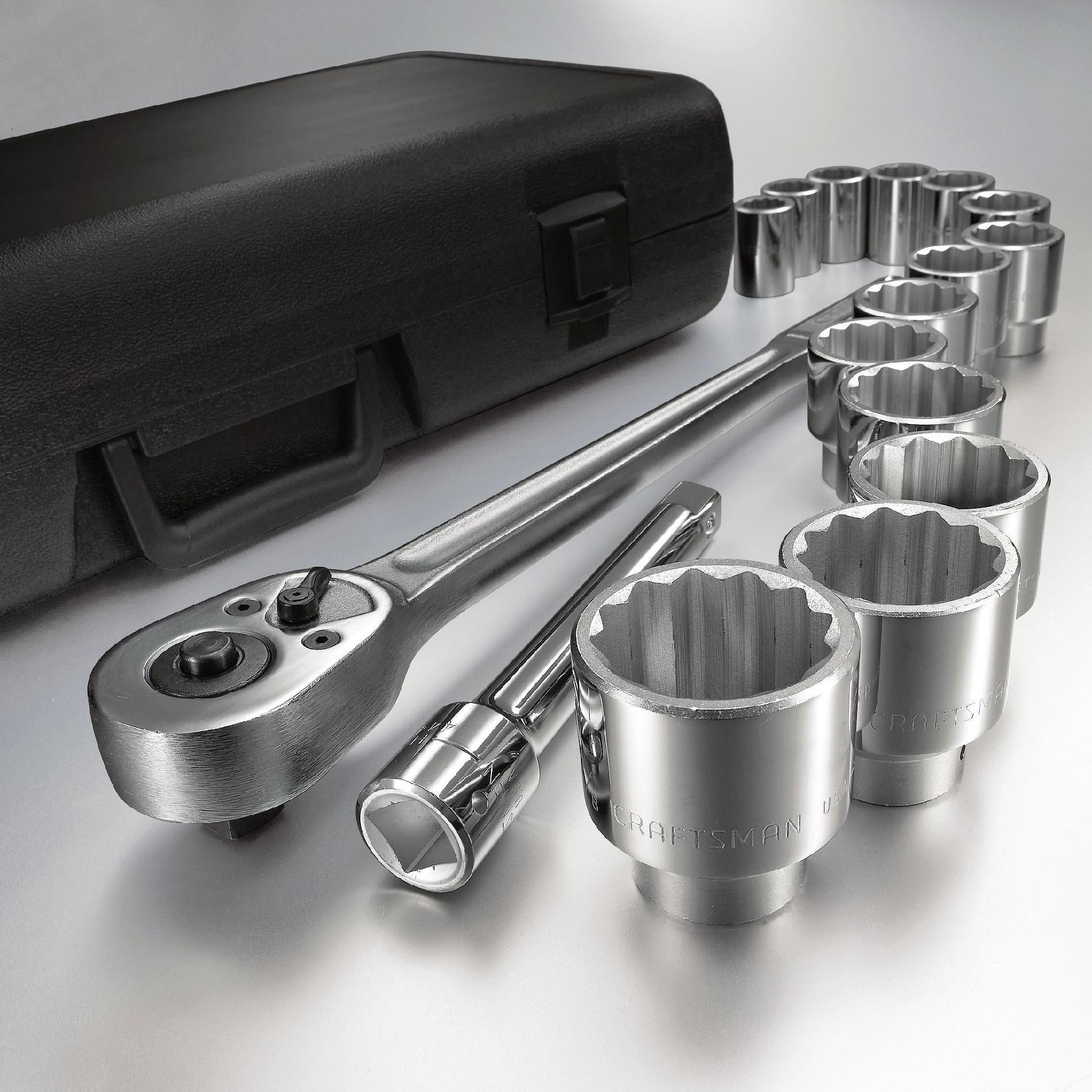 Craftsman 16 pc. 12. pt. Standard 3/4 in. Dr. Socket Wrench Set