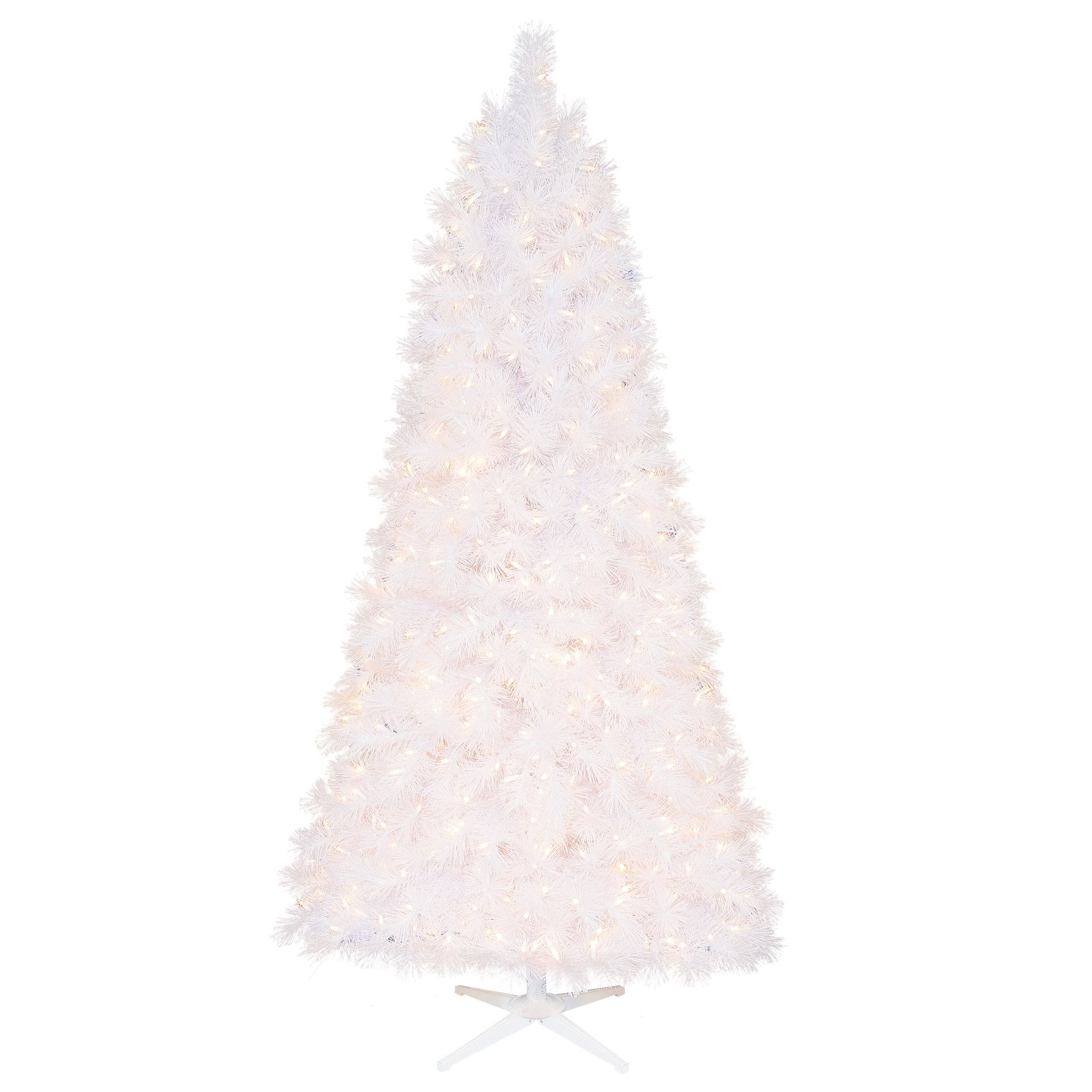 Ty Pennington Style 7 Ft Clear Pre-Lit White Artificial Christmas Tree