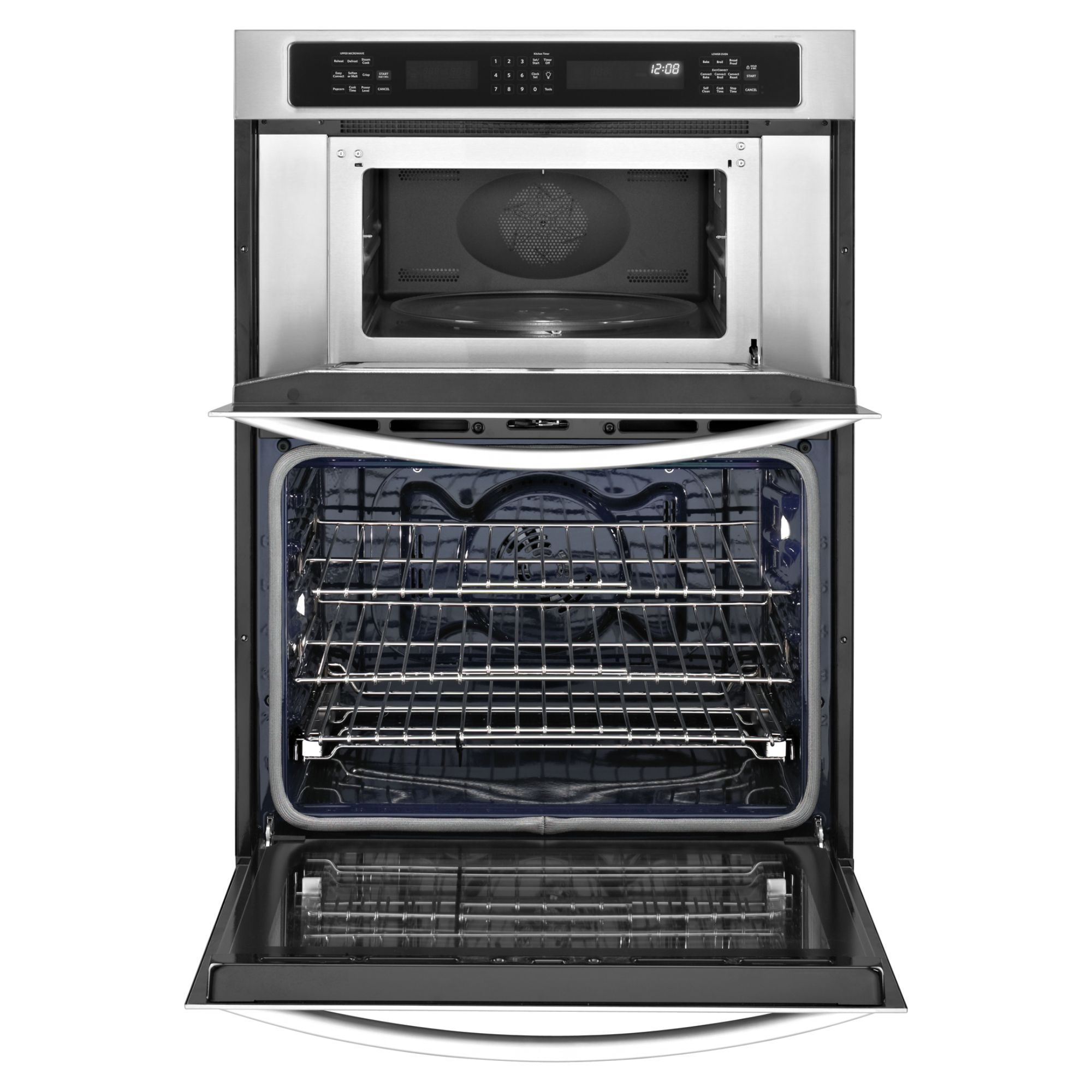 "KitchenAid 27"" Built-In Combination Wall Oven w/ Even-Heat™ True Convection Lower Oven - White"