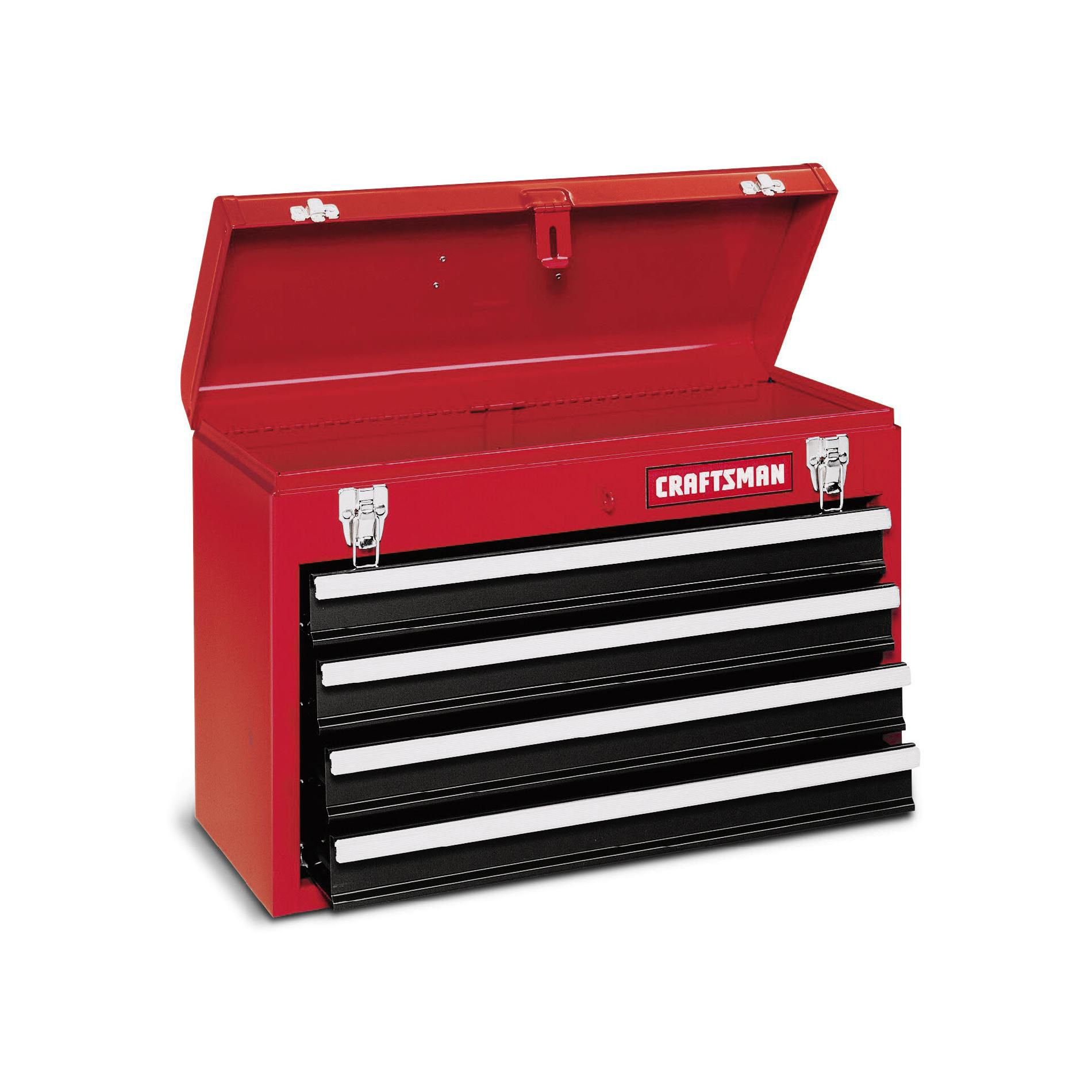 Craftsman 4-Drawer Metal Portable Chest - Red/Black