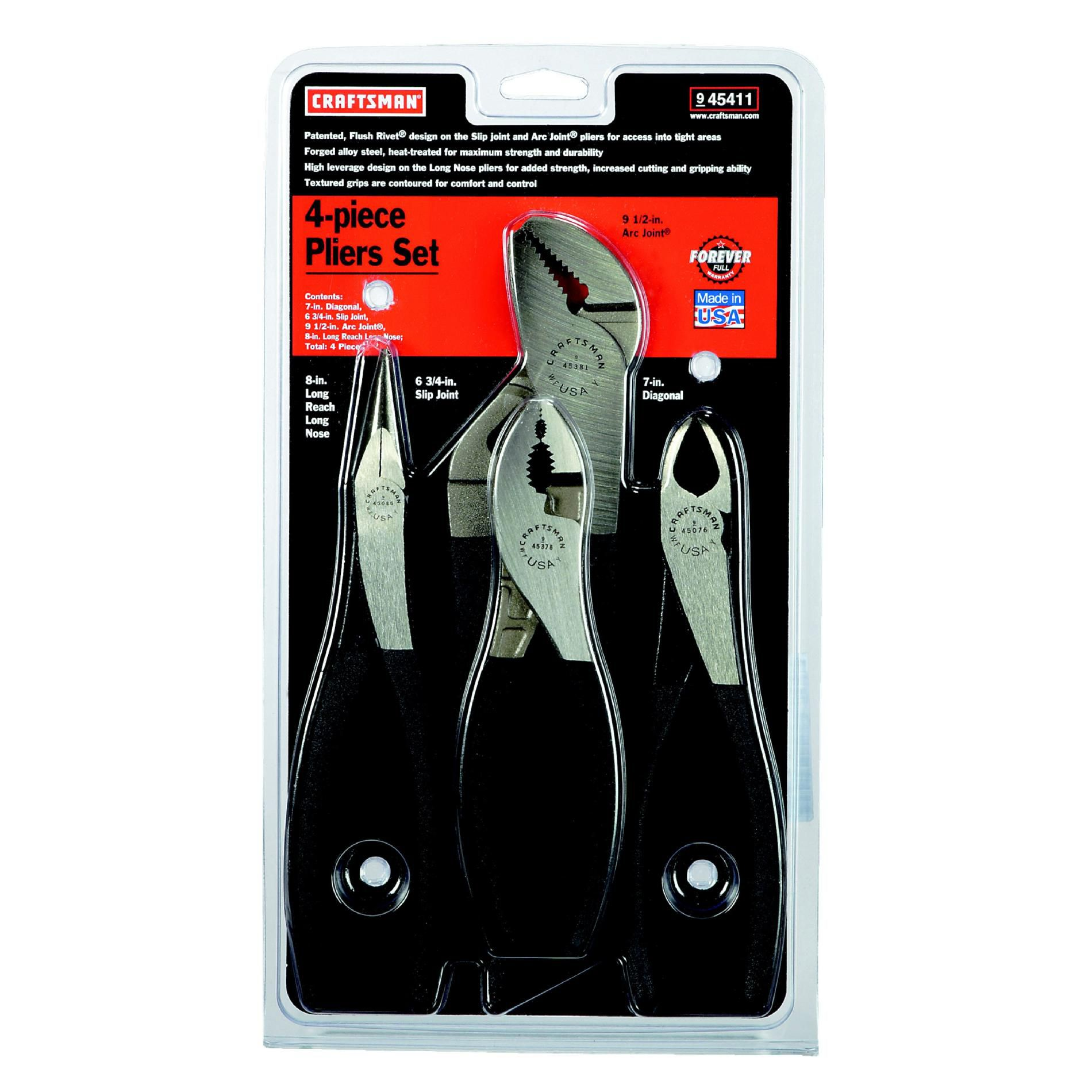Craftsman 4 pc. Pliers Set