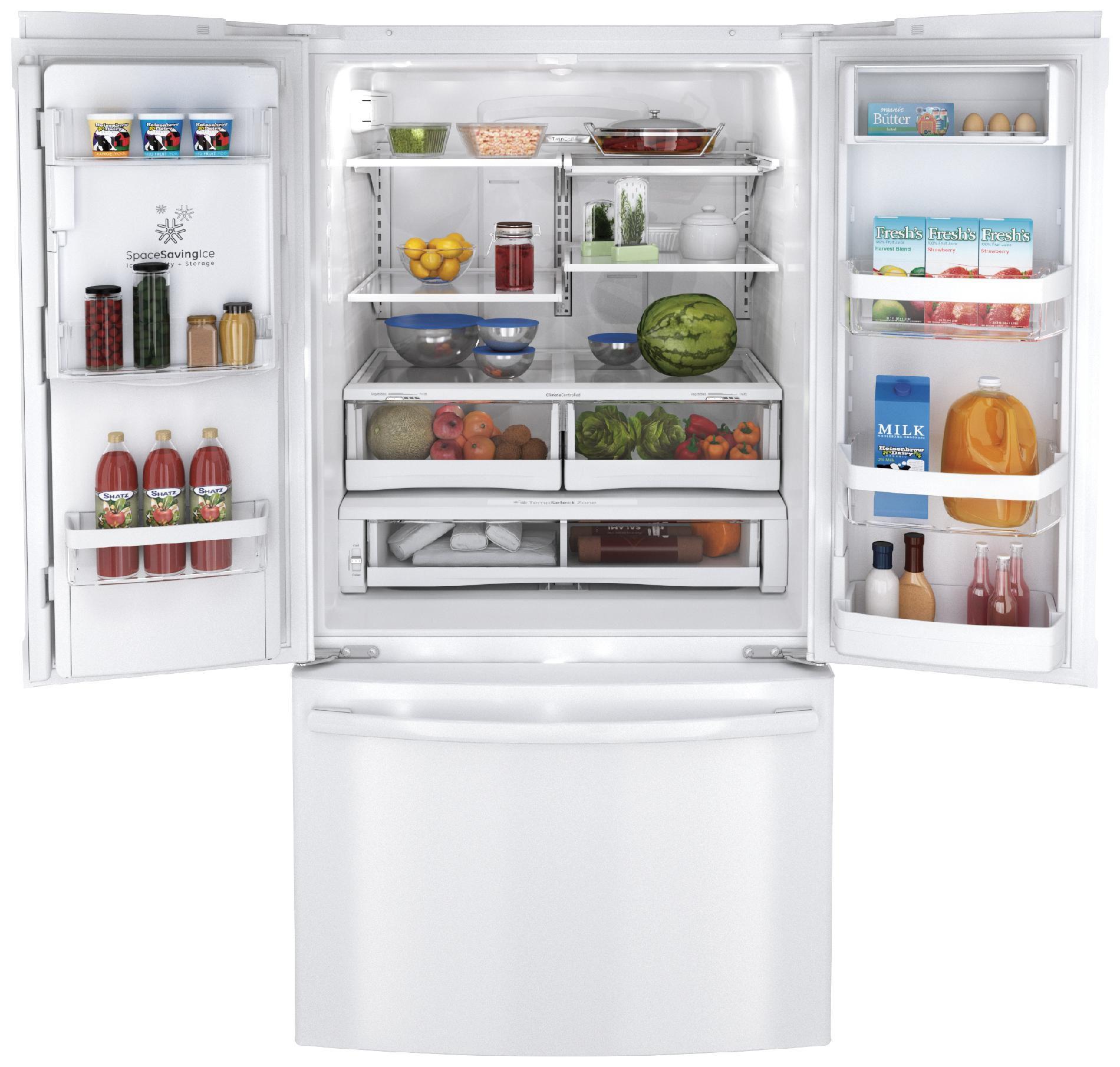 GE 28.6 cu. ft. French Door Refrigerators - White