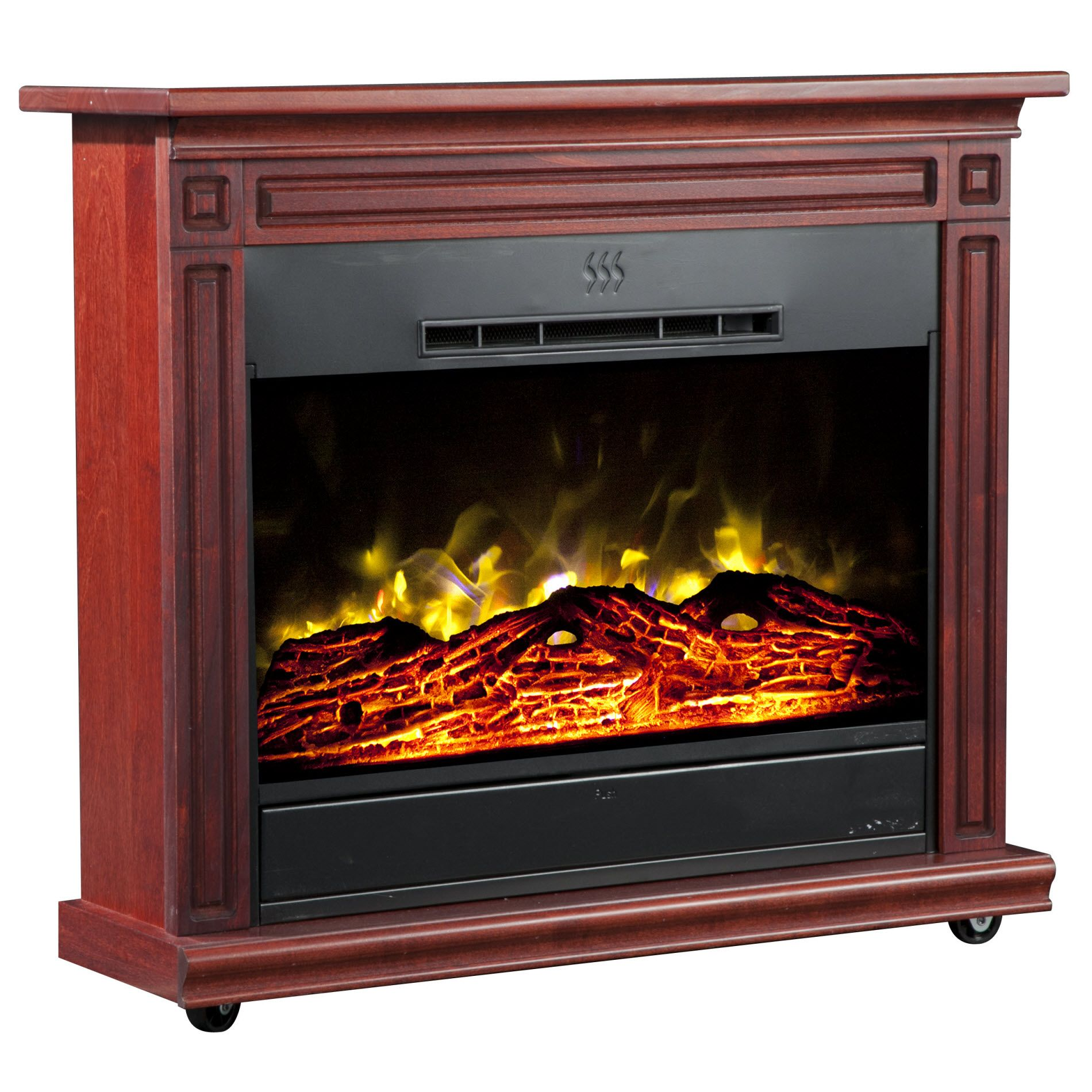 Heat Surge Roll-n-Glow Electric Fireplace  - Cherry