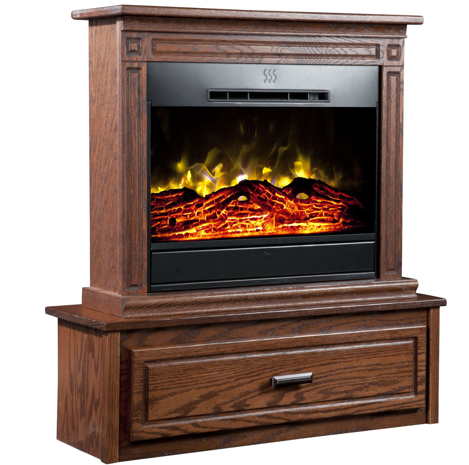 Heat Surge Hearth Accessory for Roll-n-Glow Electric Fireplace - Dark Oak