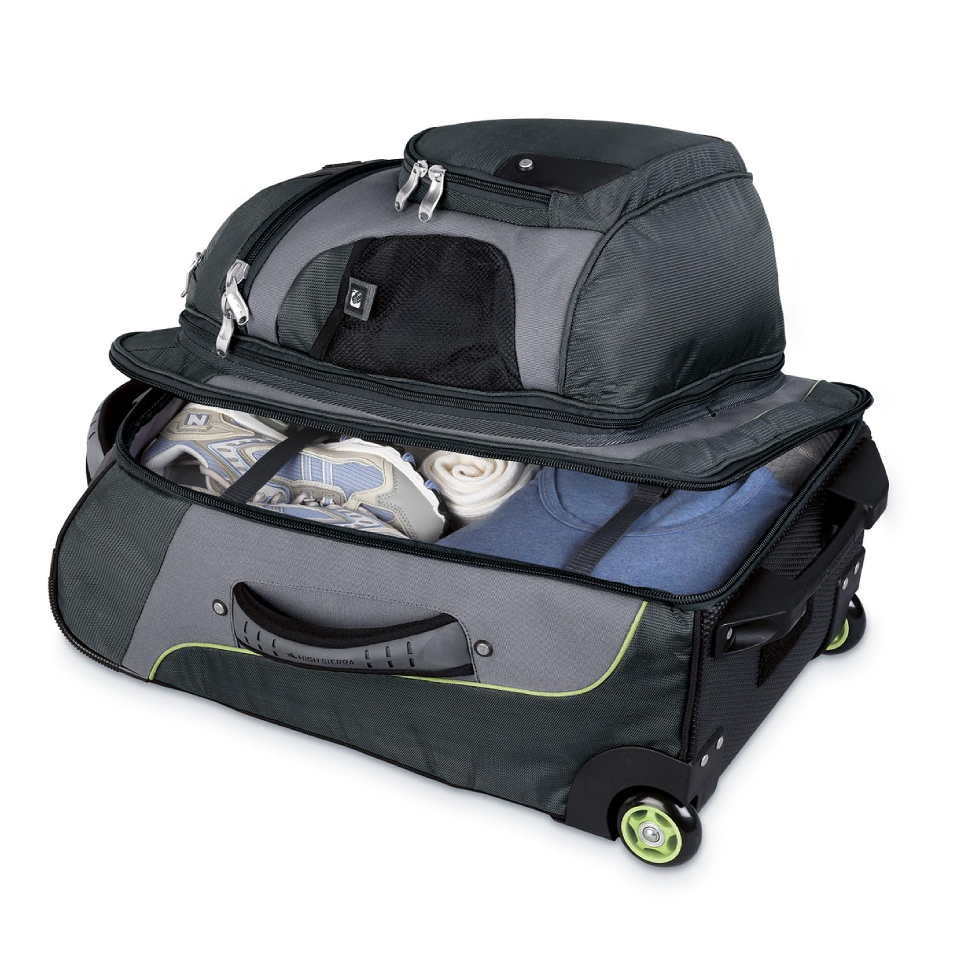 High Sierra AT3 Carry-on Wheeled Backpack Lava