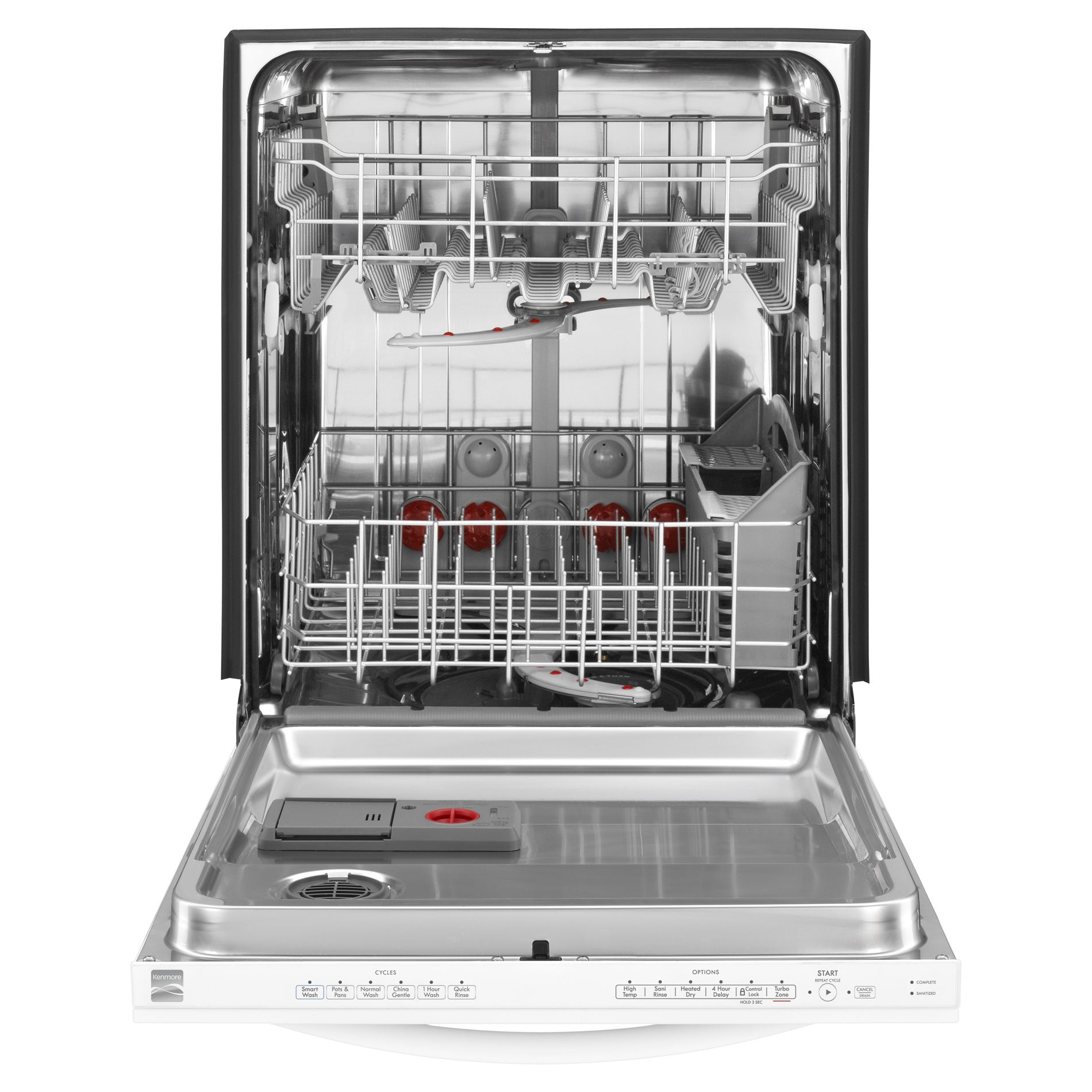 "Kenmore 24"" Built-In Dishwasher w/ TurboZone™  w/ Rotating Spray Jets - White"