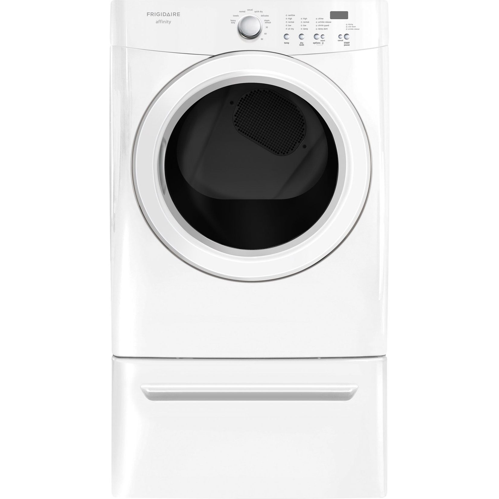 Frigidaire Affinity 7.0 cu. ft. Ready Steam™ Electric Dryer - White
