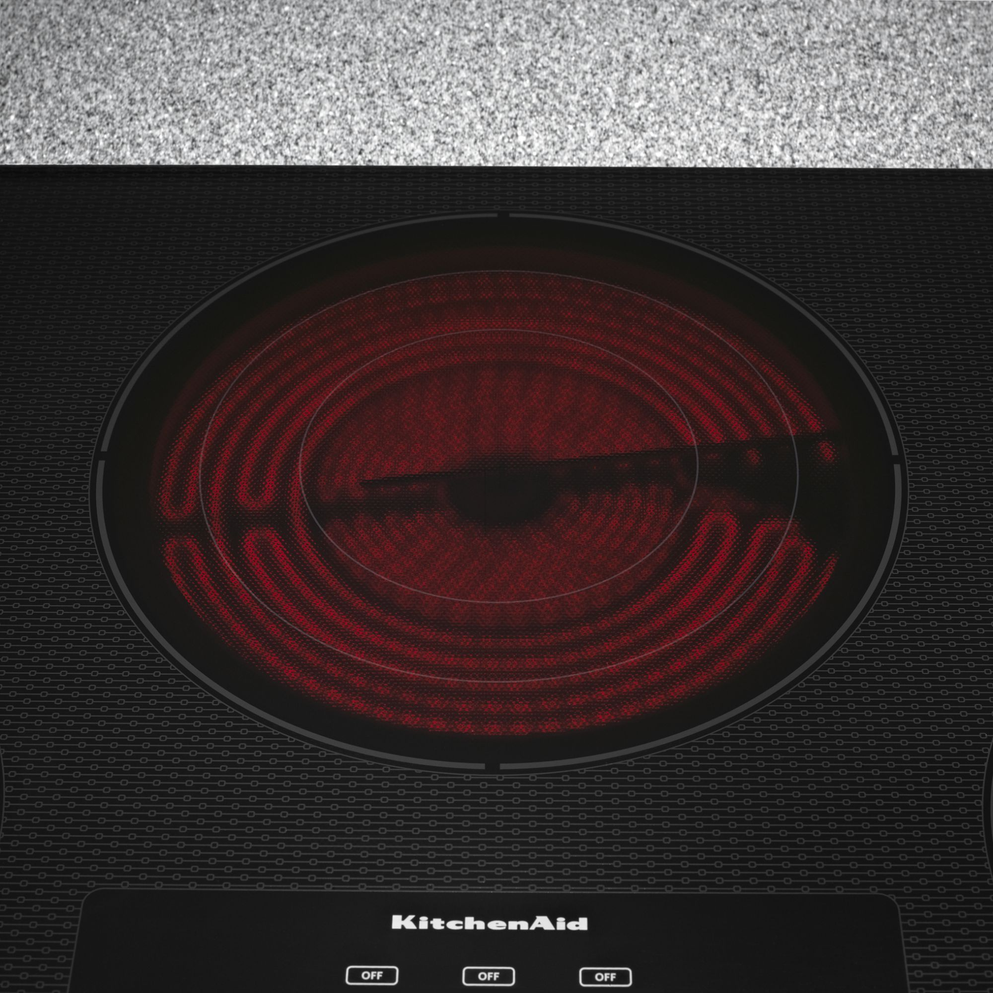 "KitchenAid 36"" 5-Element Electric Cooktop with Even-Heat™ Technology - Stainless Steel"