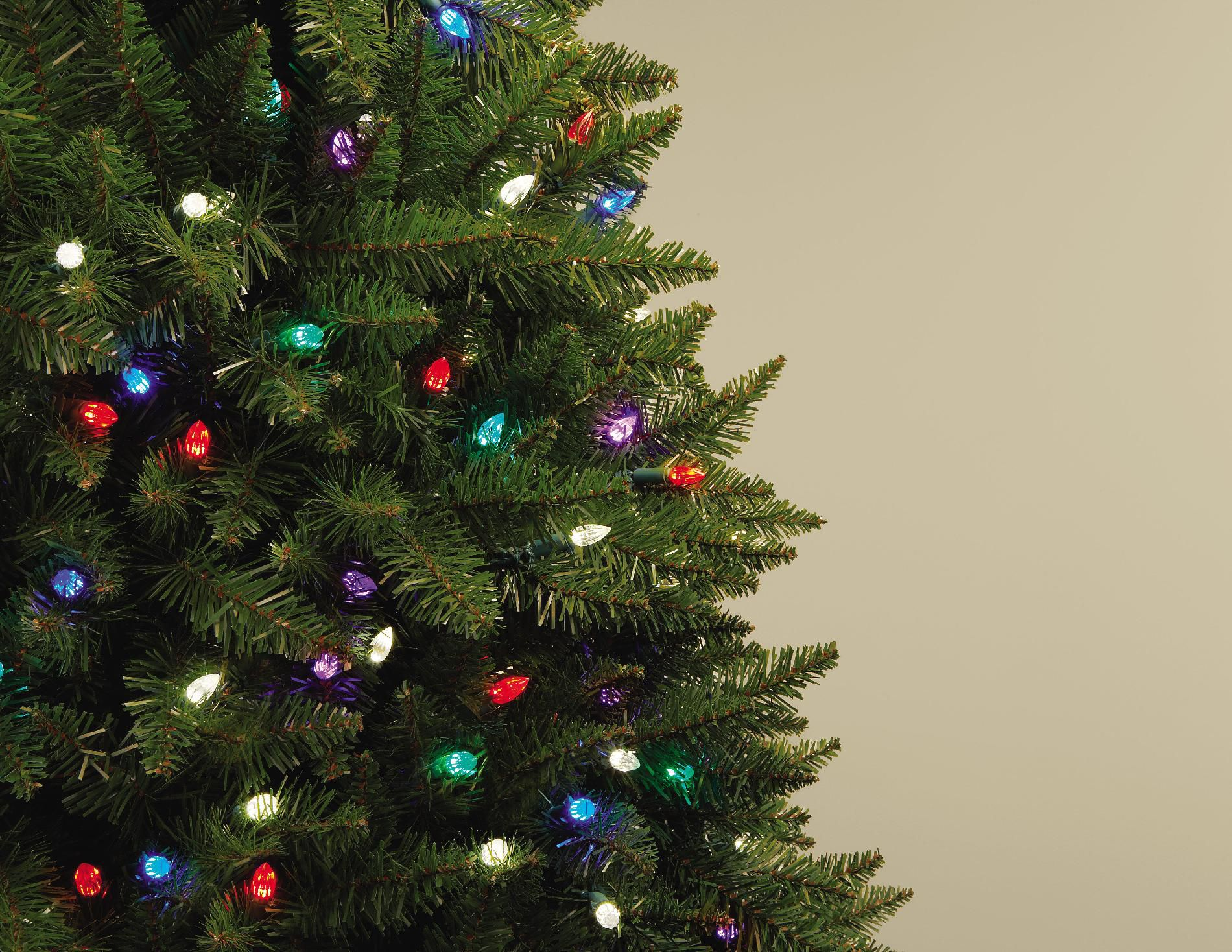 Christmas Decorations Sears Holiday Showtime 7ft Pre Lit Northern Lights Artificial Spruce