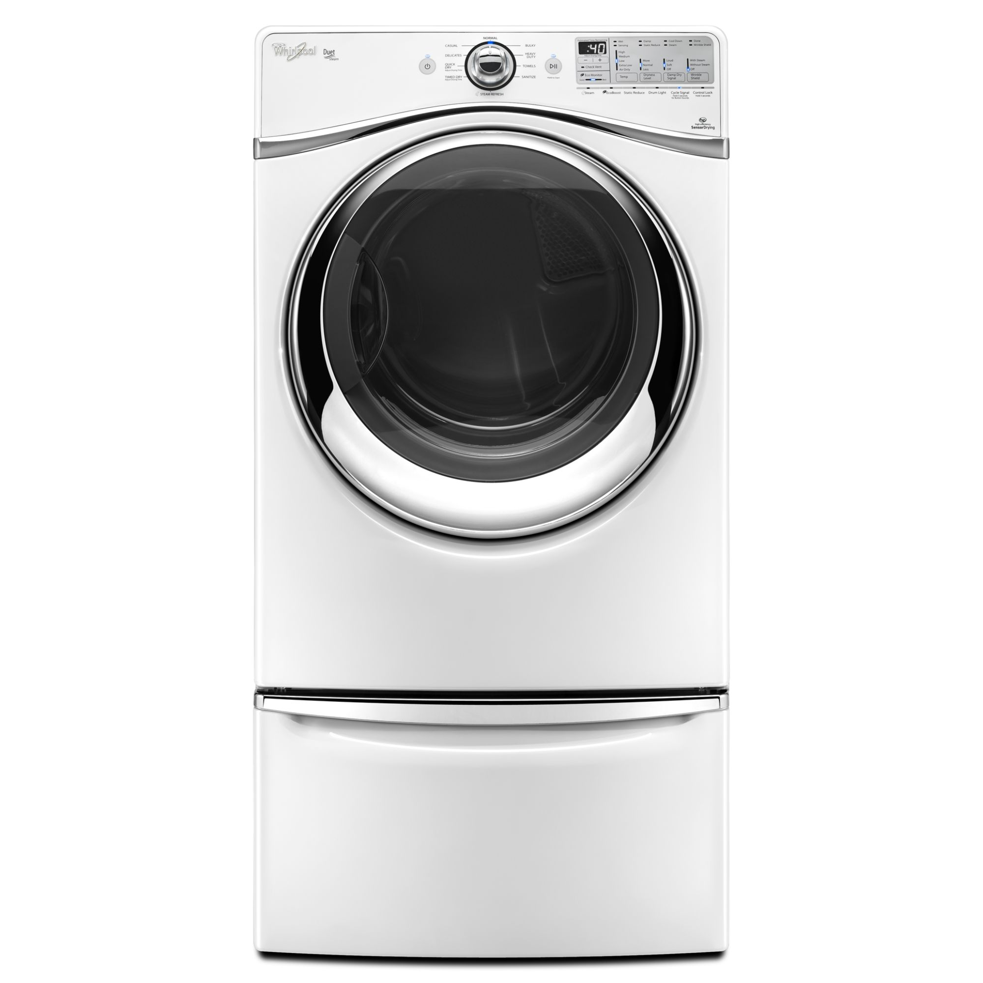 Whirlpool Duet® 7.4 cu. ft. Electric Dryer w/ Advanced Moisture Sensing - White
