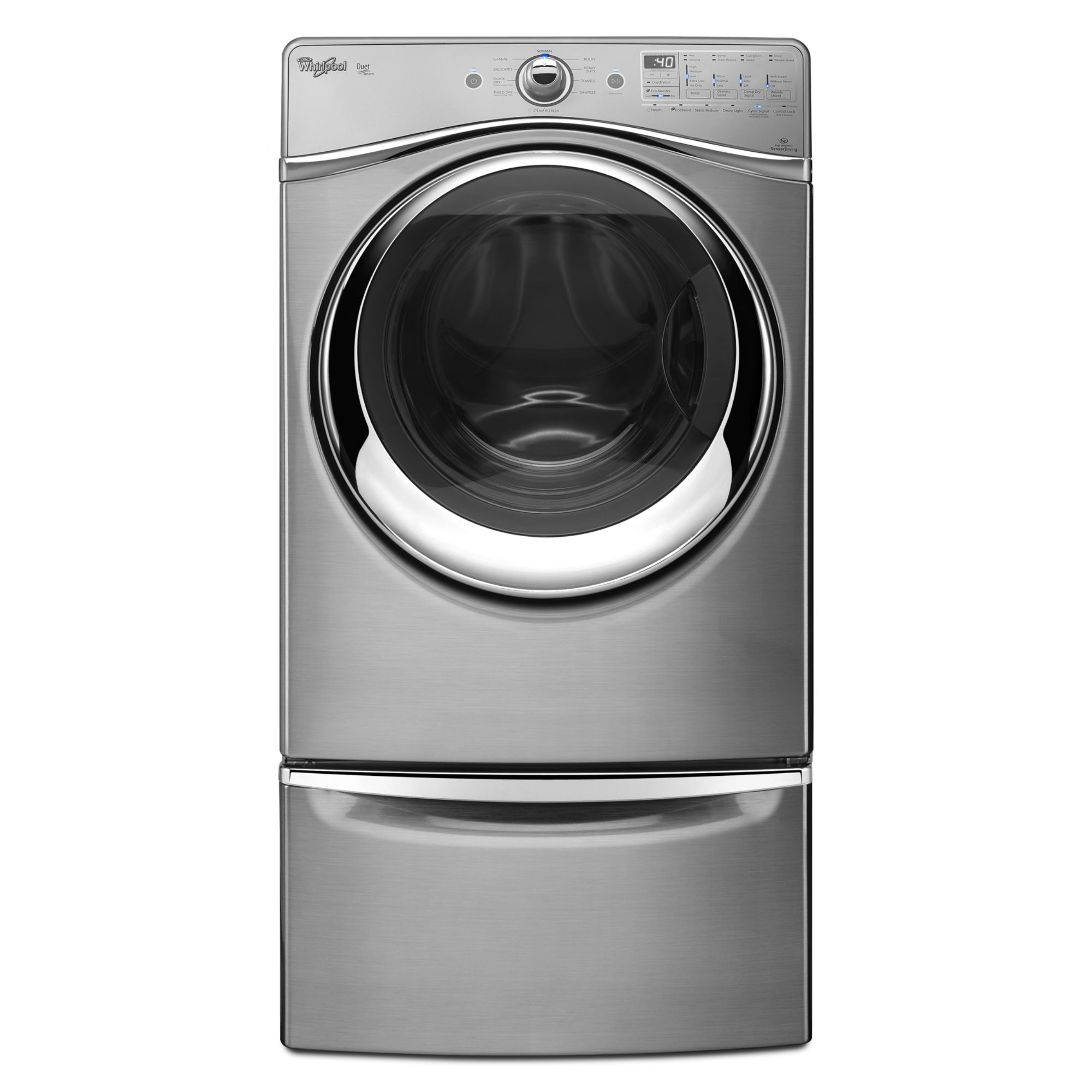 Whirlpool Duet® 7.4 cu. ft. Gas Dryer w/ Tap Touch Controls - Diamond Steel