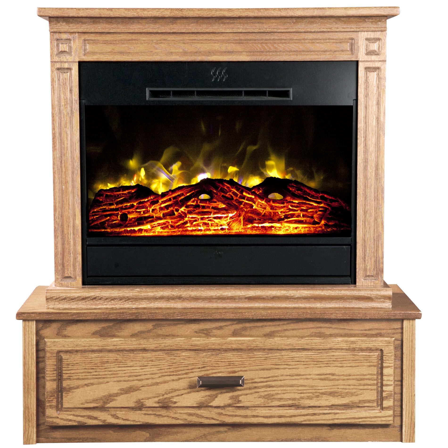 Heat Surge Hearth Accessory for Roll-n-Glow Electric Fireplace - Light Oak