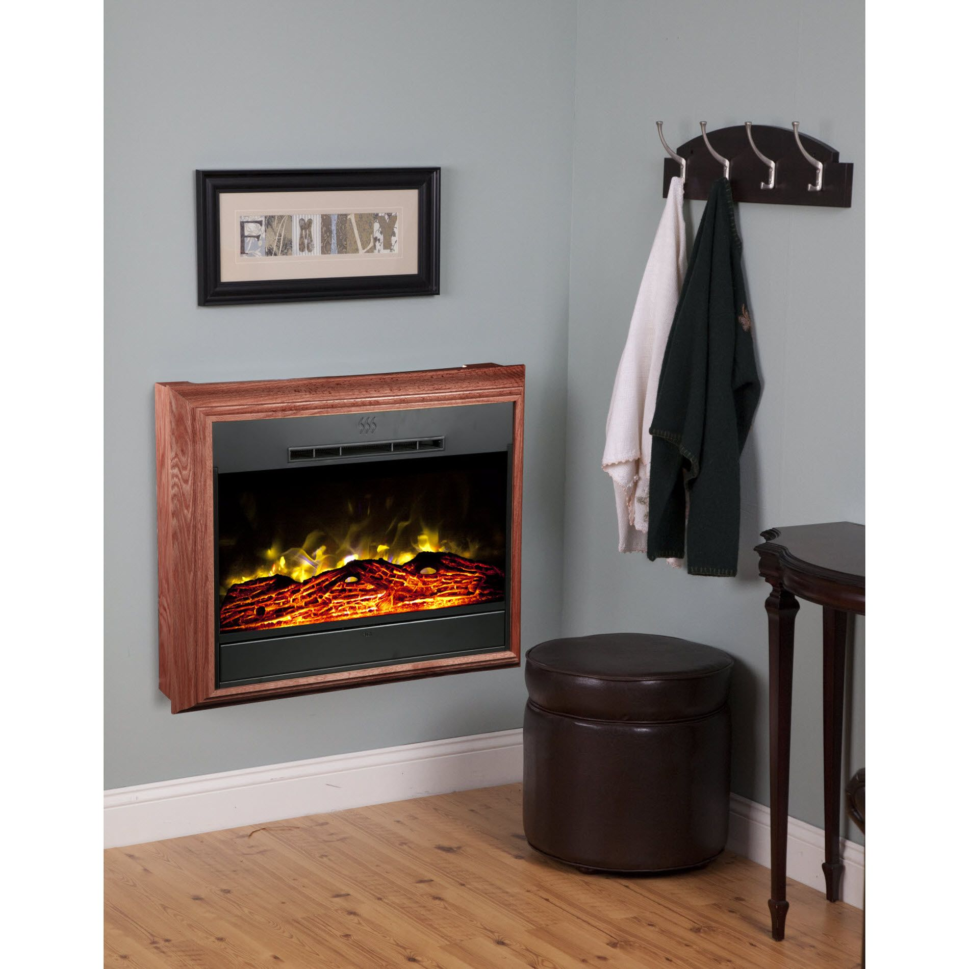 Heat Surge Portrait Wall-Mounted Electric Fireplace  - Cherry