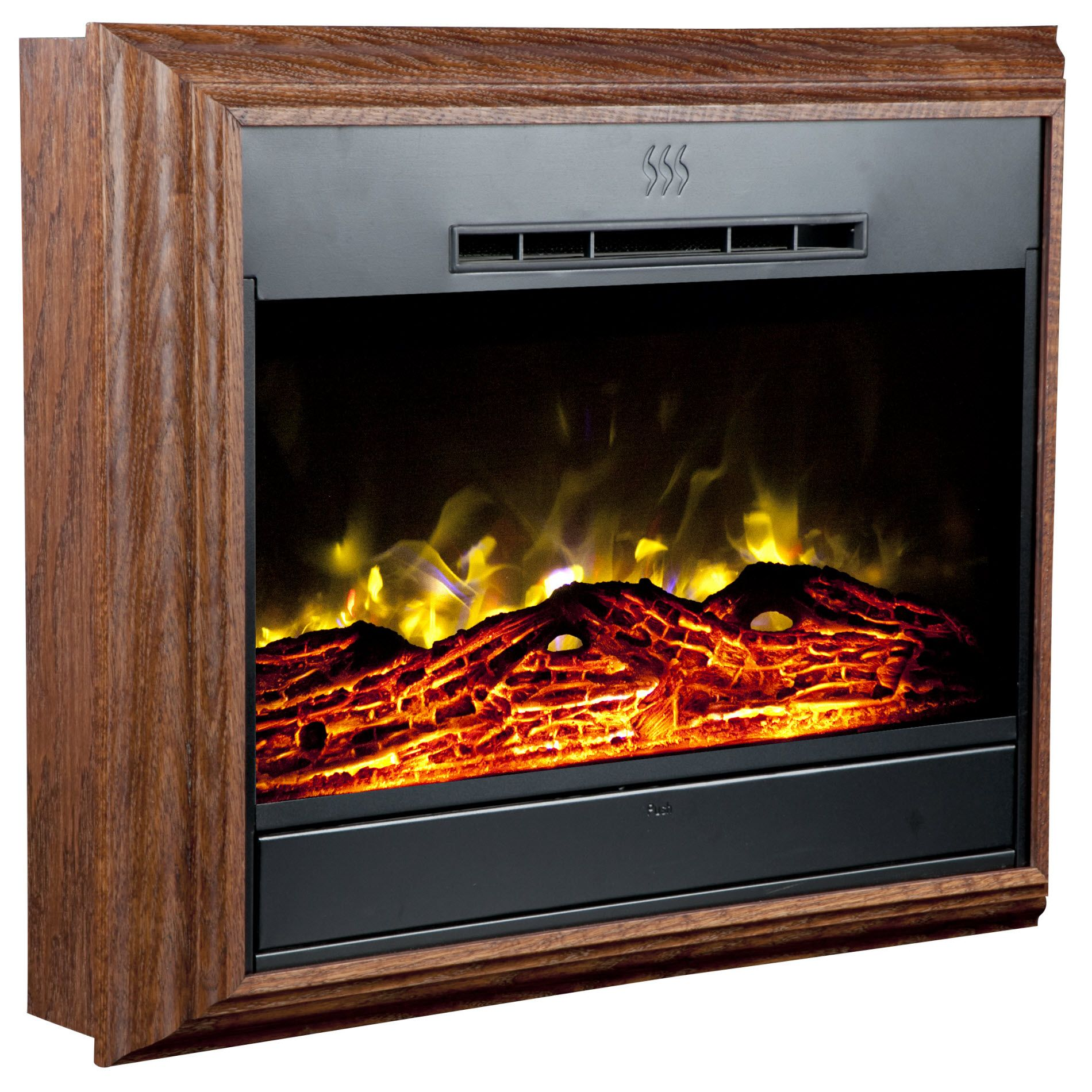 Heat Surge Portrait Wall-Mounted Electric Fireplace  - Dark Oak