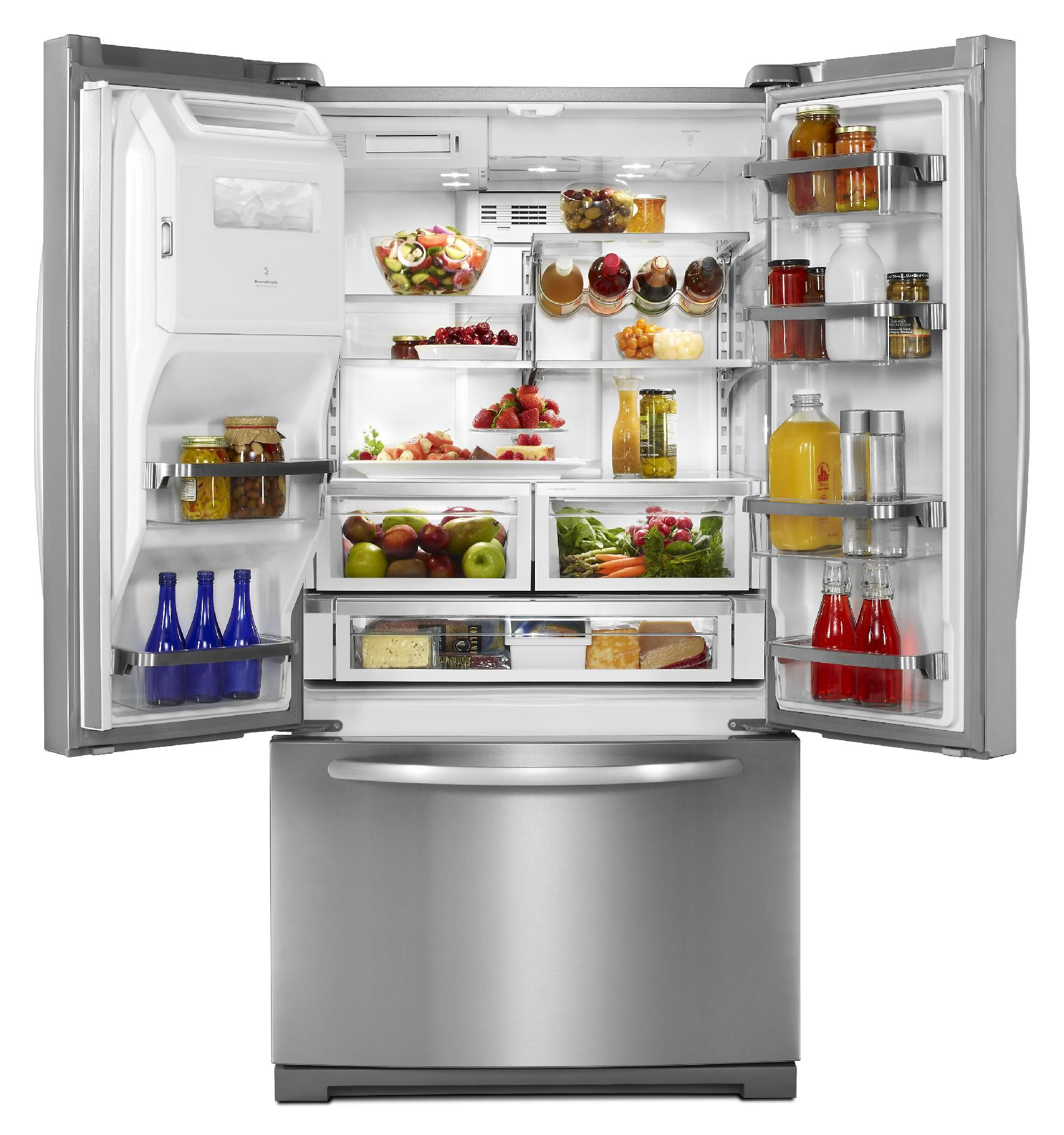 KitchenAid 26.8 Cu. Ft. French Door Architect Series II Monochromatic Stainless Refrigerator