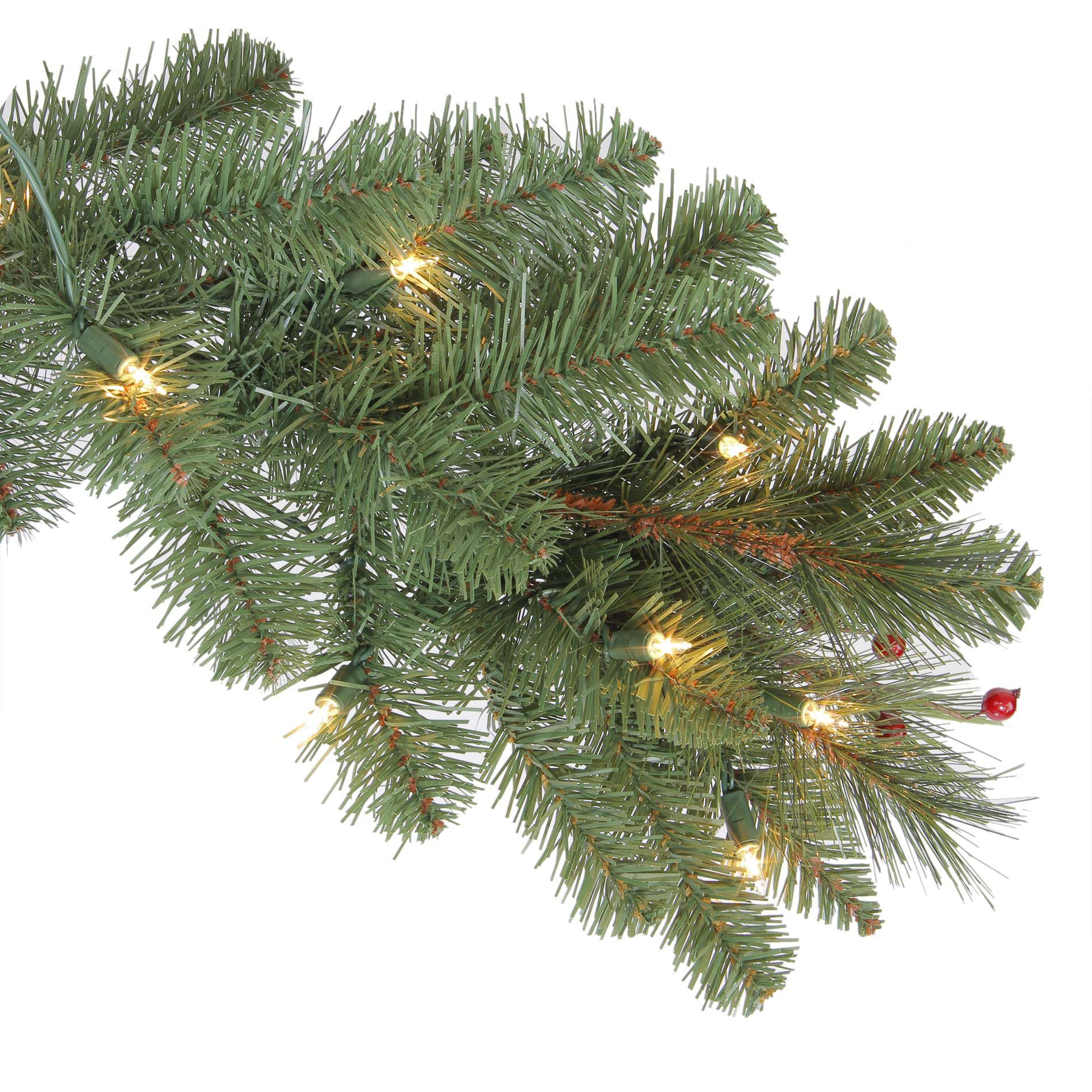 Ty Pennington Style 7.5 Ft Clear Pre-Lit Kensington Artificial Pine Christmas Tree