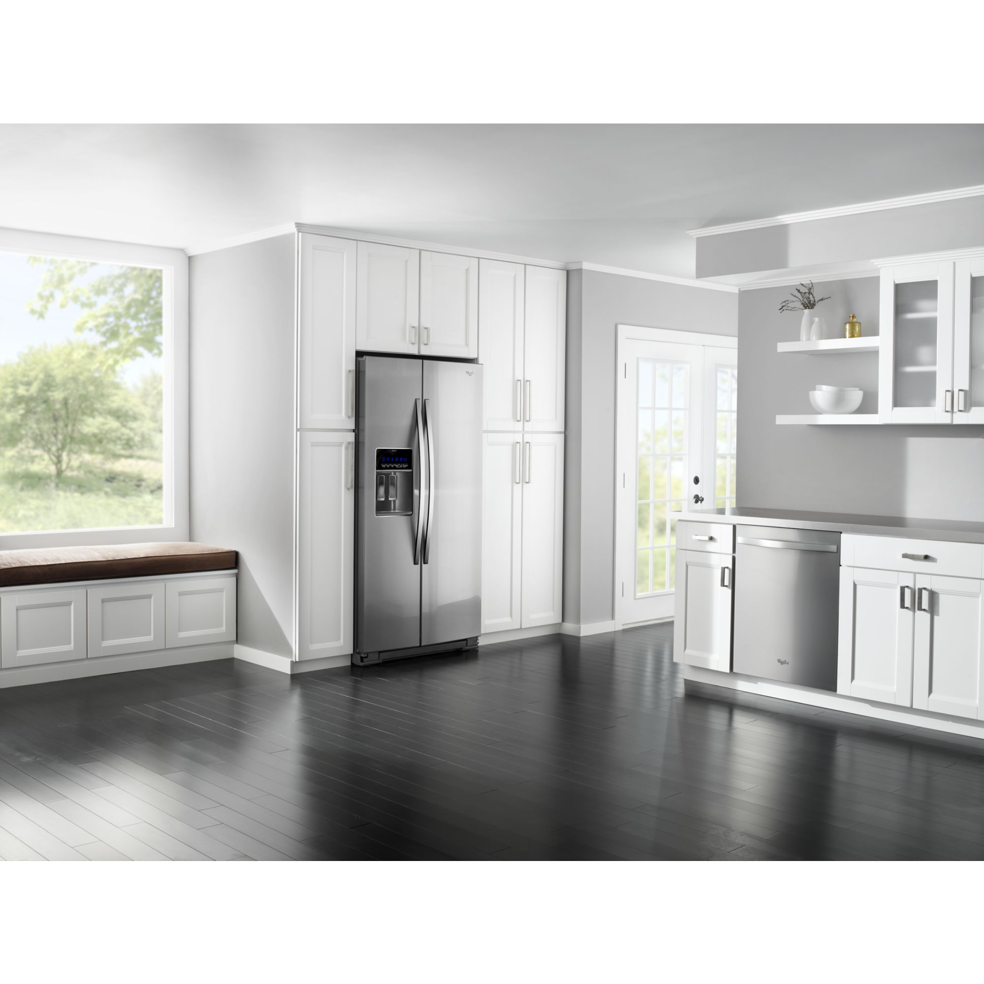 Whirlpool Gold 24.5 cu. ft. Counter-Depth Side-by-Side Refrigerator w/ MicroEdge™ Shelves - Stainless Steel