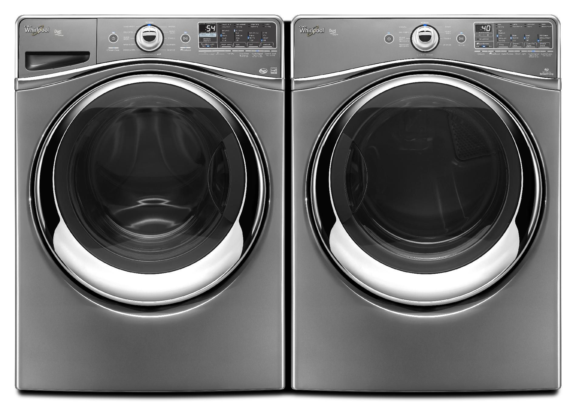 Whirlpool 4.3 cu. ft. Front-Load Washer w/ Precision Dispense Ultra - Chrome Shadow