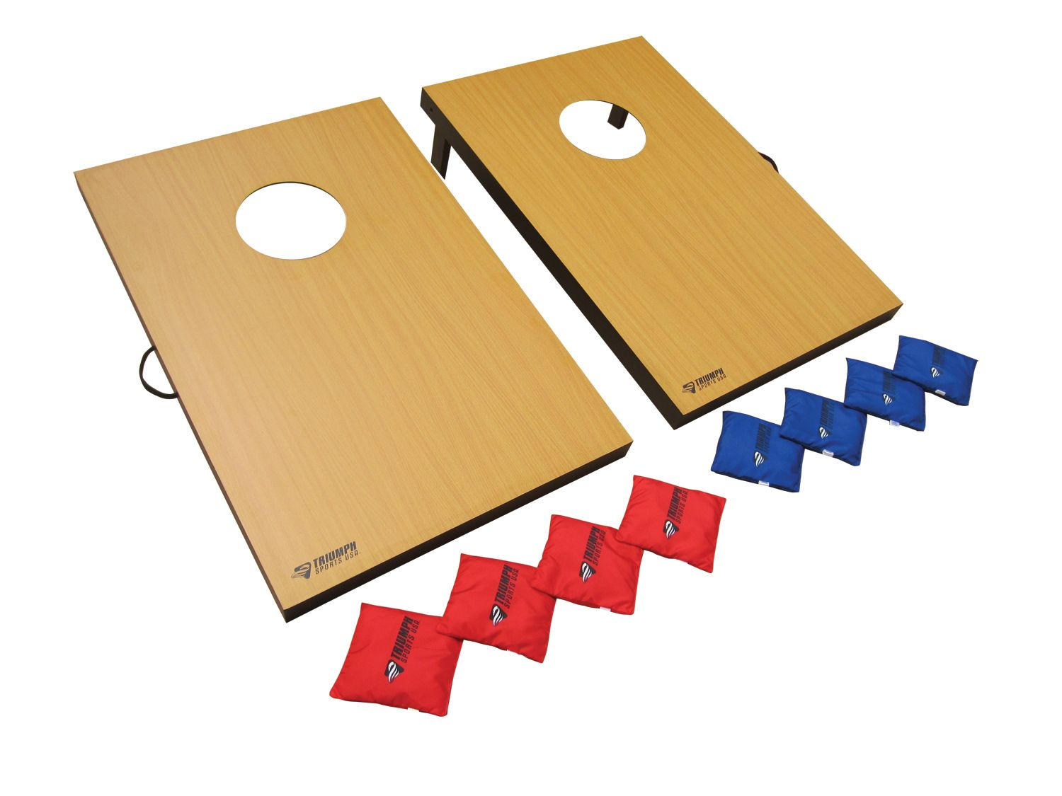 Triumph Sports Usa 2-in-1 Bag Toss Tournament Game and 3-Hole Washer Toss