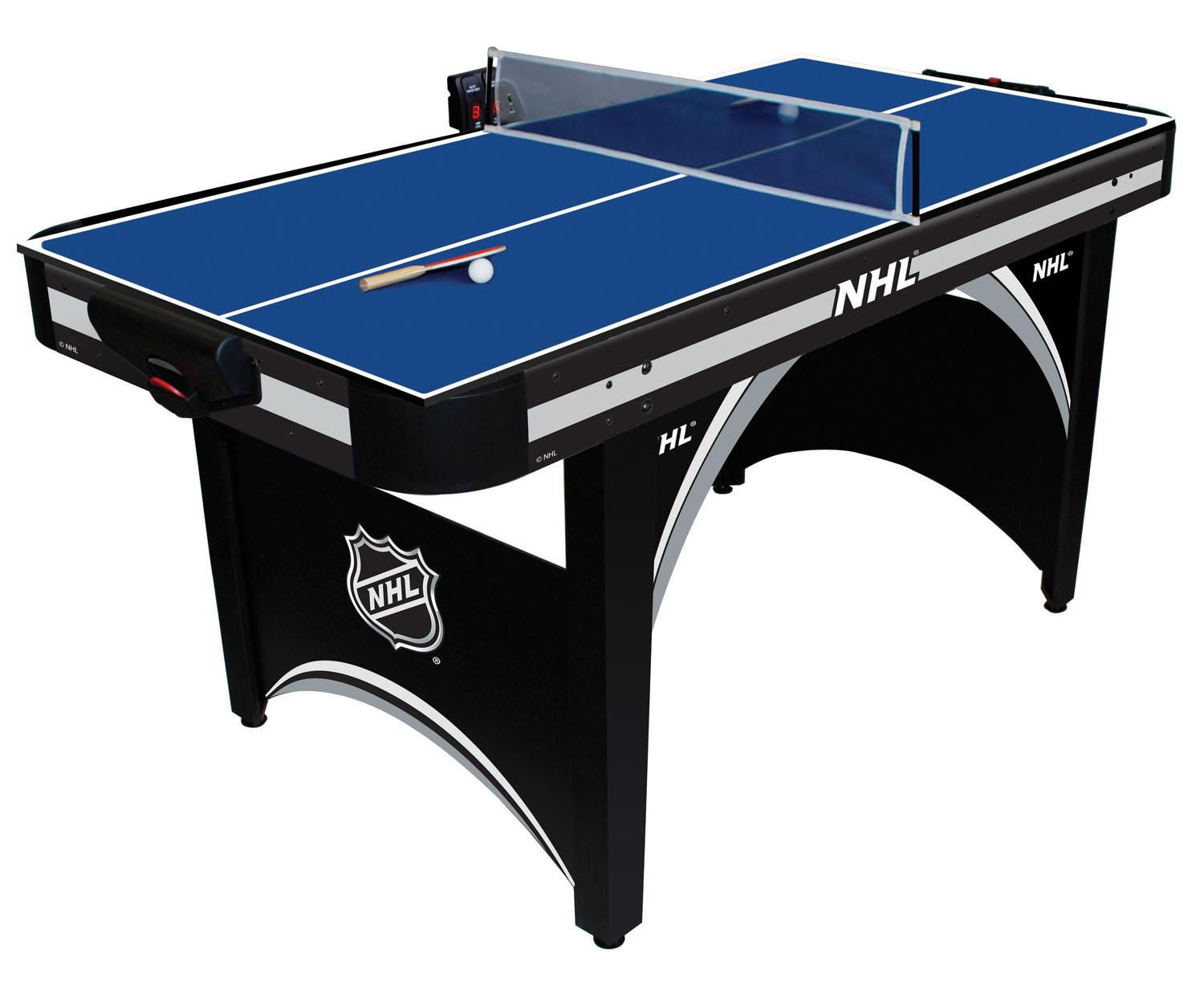 NHL 66in Air Powered Hockey Table with BONUS Table Tennis