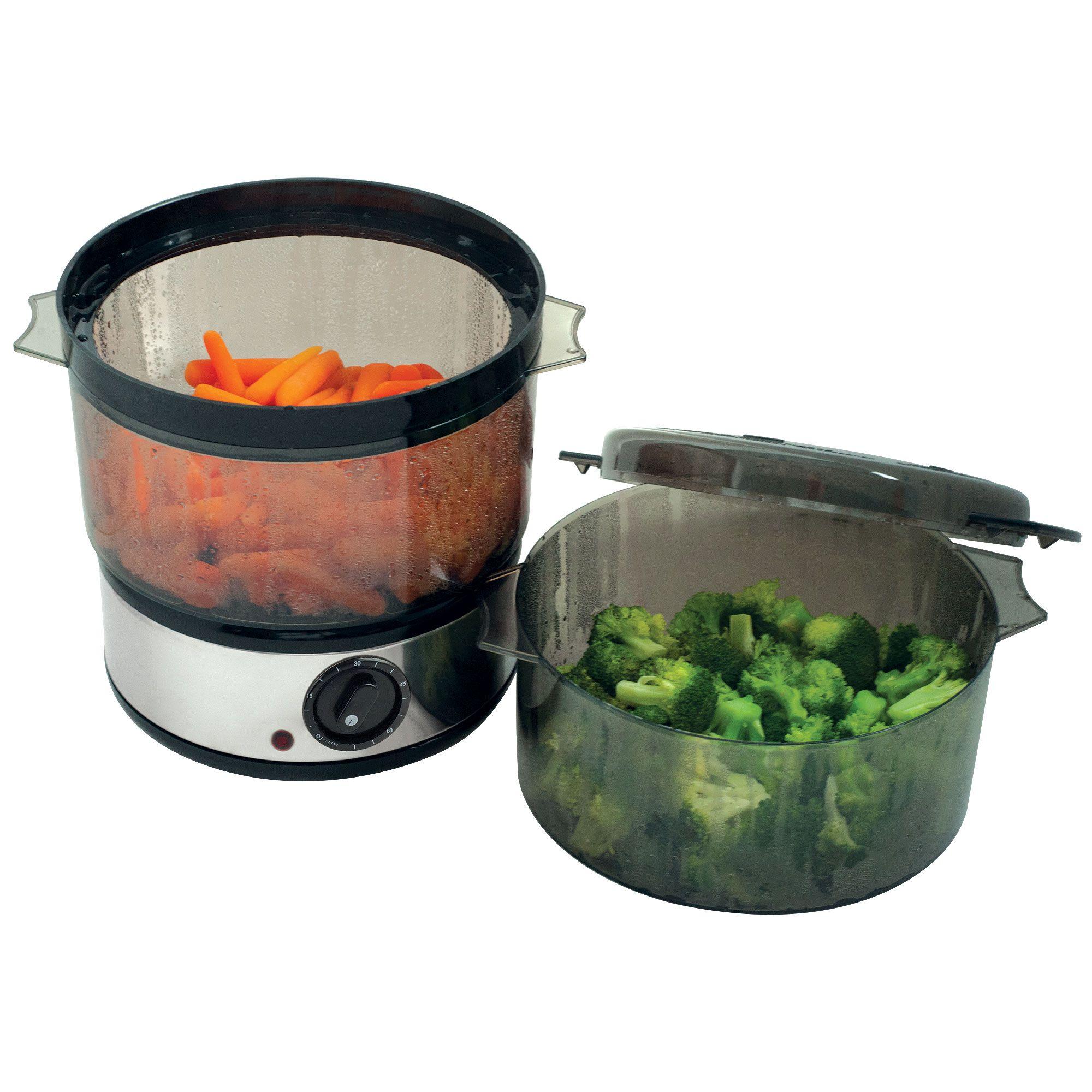 Chef Buddy 400 Watt Stainless Steel Food Steamer - 4 Quart Capacity