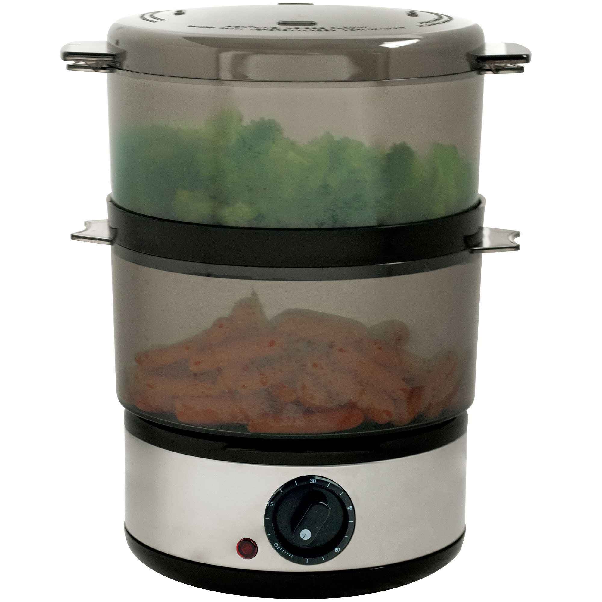 Chef Buddy 400 Watt Stainless Steel Food Steamer - 4 Quart Capacity