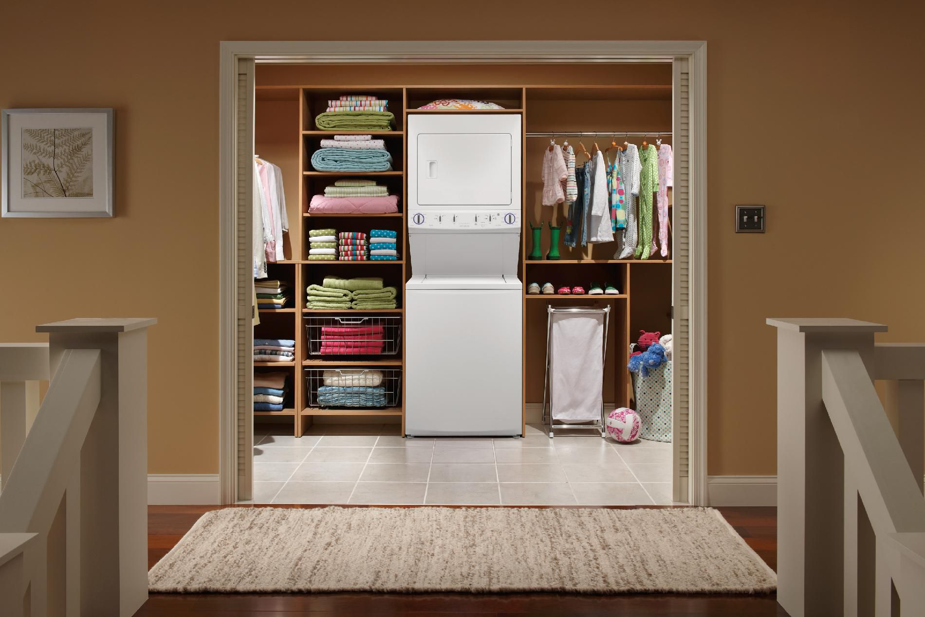 "Frigidaire 27"" Electric Stacked Laundry Center - White FFLE1011MW"