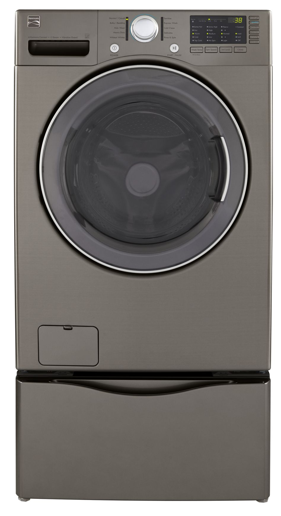 Kenmore 3.7 cu. ft. Steam Front-Load Washer - Metallic Silver