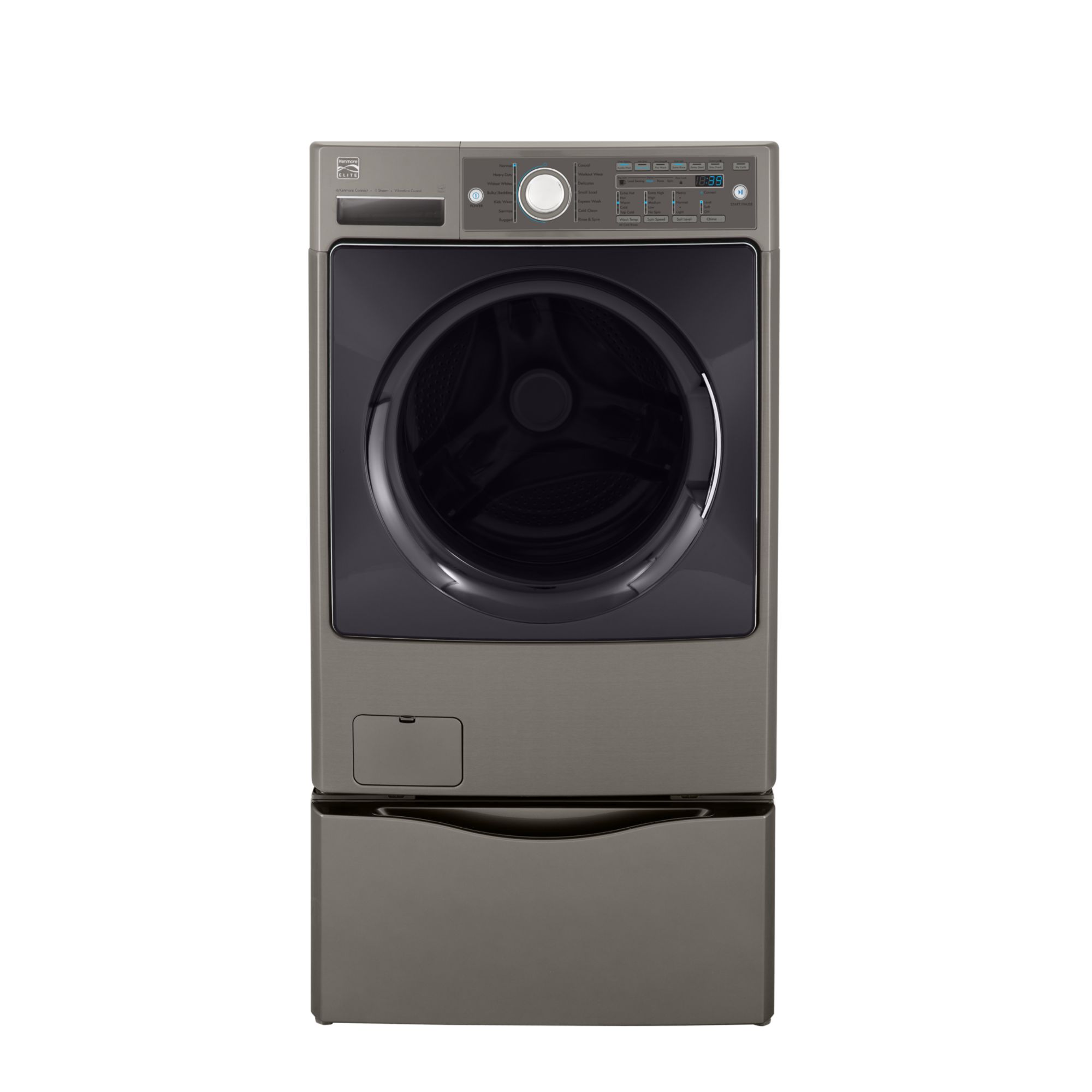 Kenmore Elite 4.3 cu. ft. Steam Front-Load Steam Washer - Metallic Silver