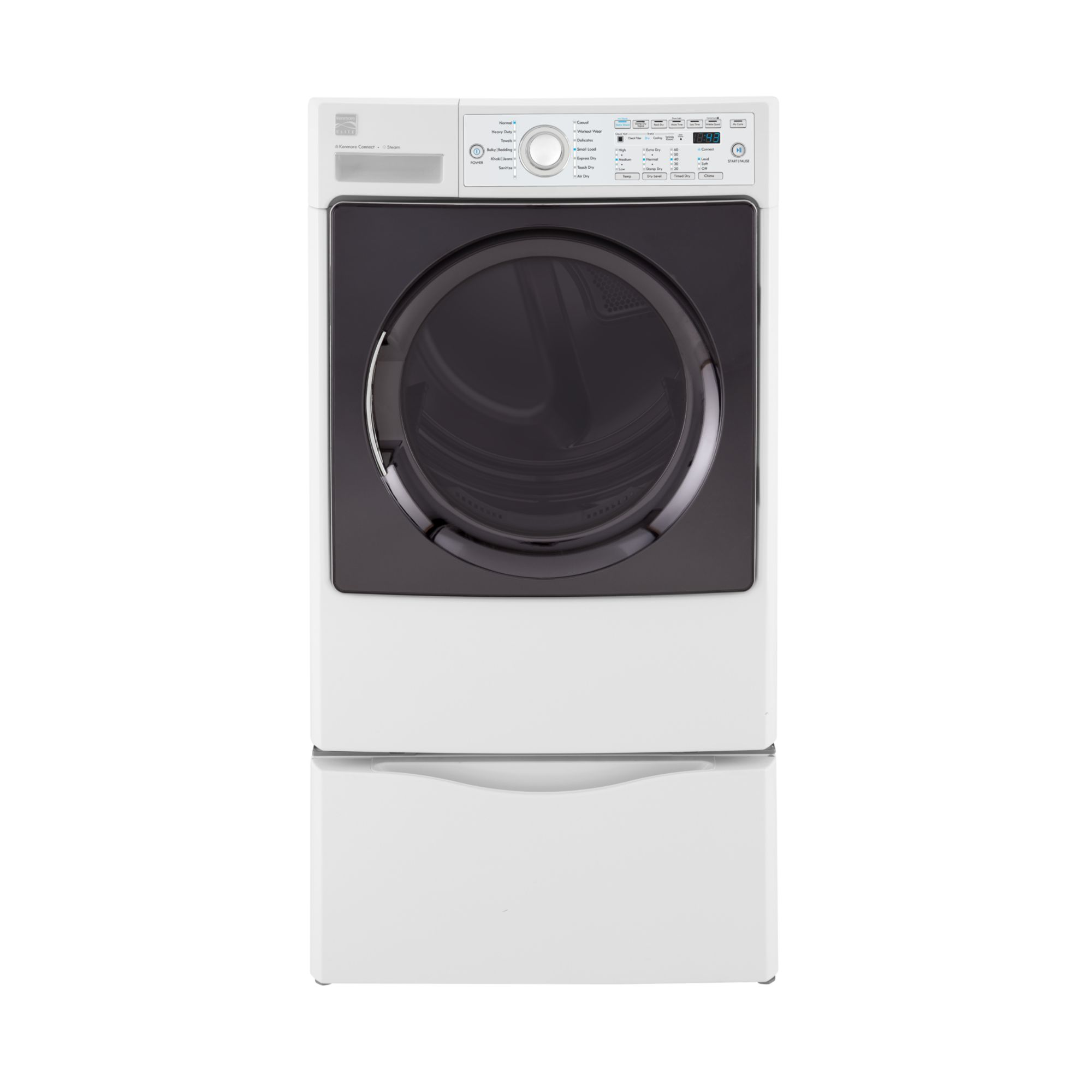 Kenmore Elite 7.4 cu. ft. Electric Steam Dryer - White