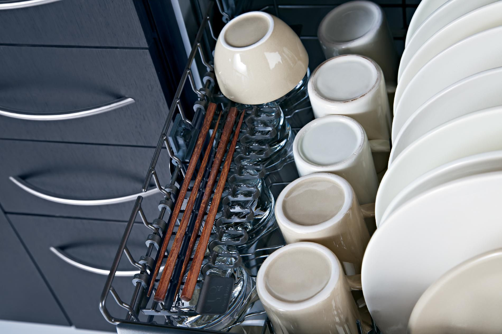 """GE 24"""" Dishwasher with Front Controls - Bisque"""