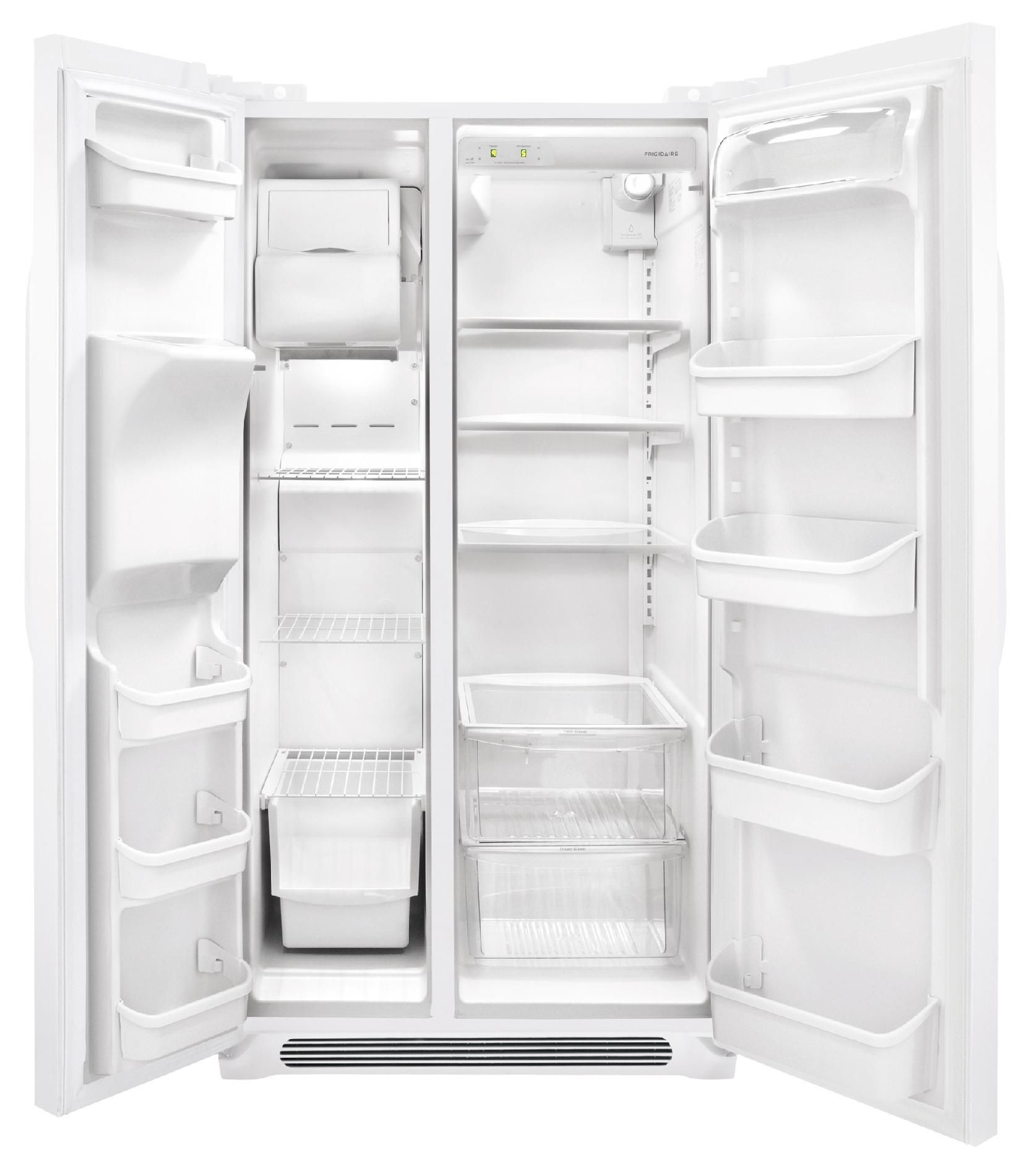 Frigidaire FFHS2622MW 25.5 cu. ft. Side-by-Side Refrigerator - White