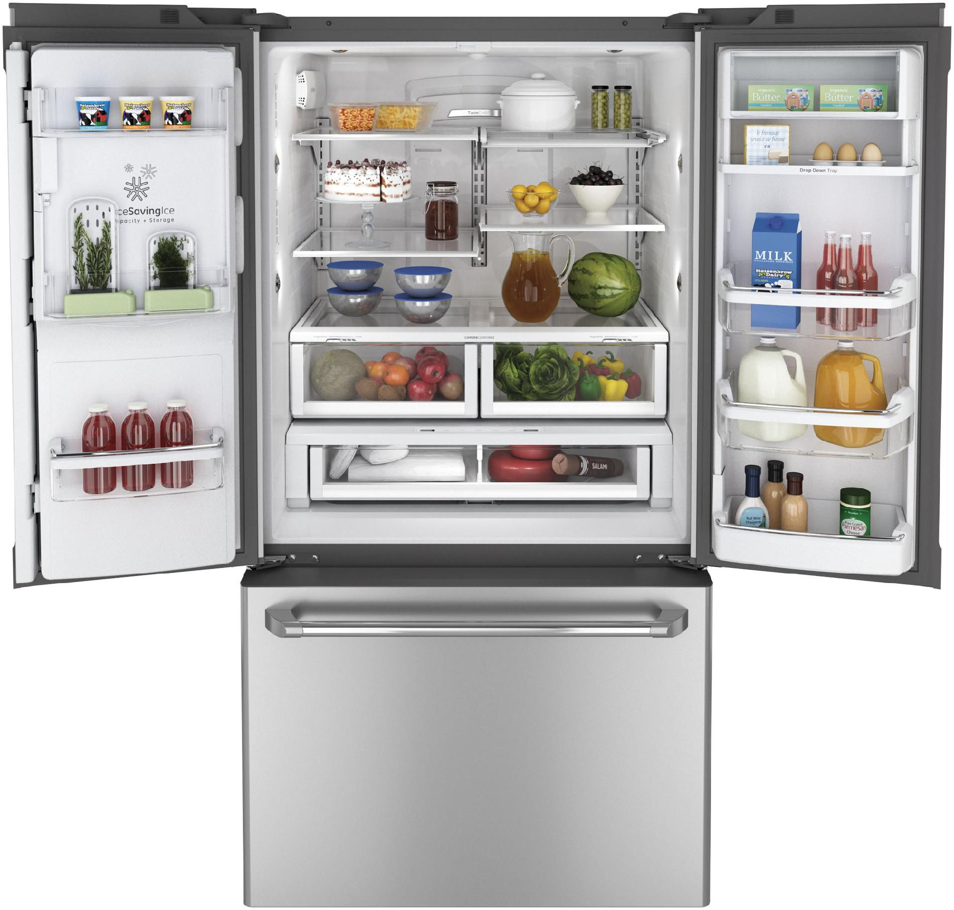 GE Café 23.1 cu. ft. Counter-Depth French Door Refrigerator - Stainless Steel