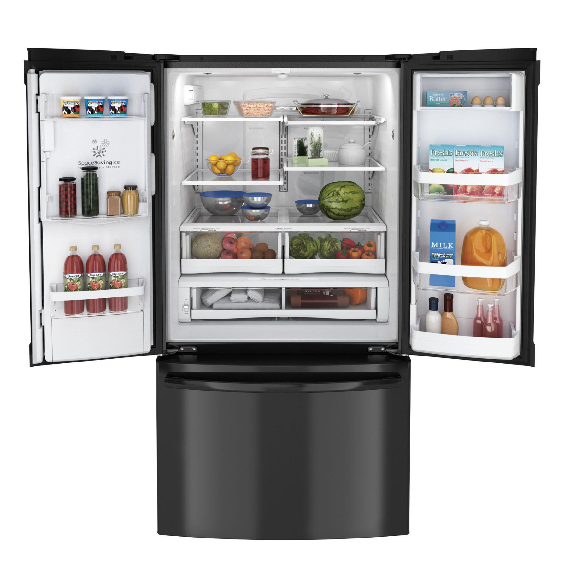 GE 26.7 cu. ft. French Door Refrigerator - Black