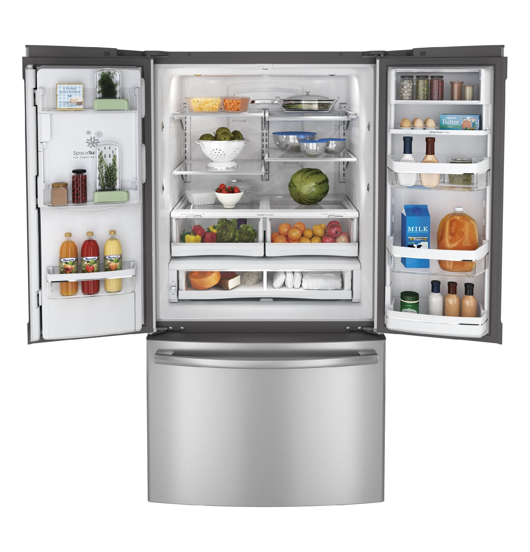 GE Profile 23.1 cu. ft. Counter-Depth French Door Refrigerator - Stainless Steel