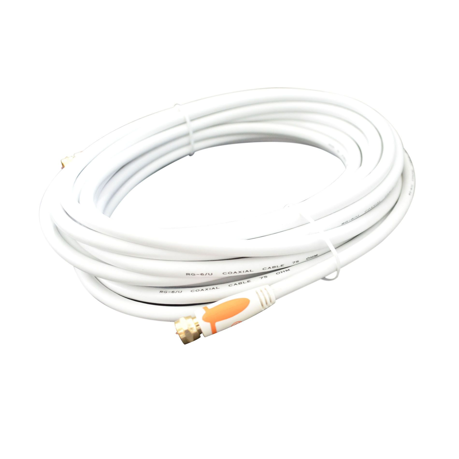 Alphaline™ 50' RG6 Coaxial Cable - White