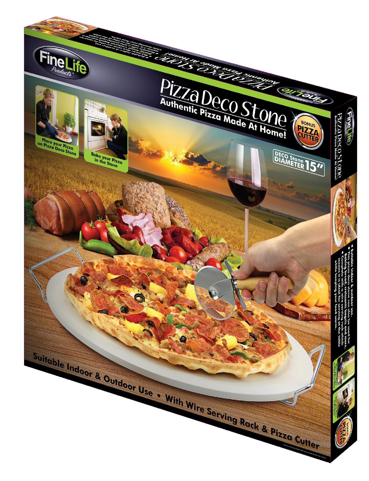 FINE LIFE Pizza Deco Stoneware