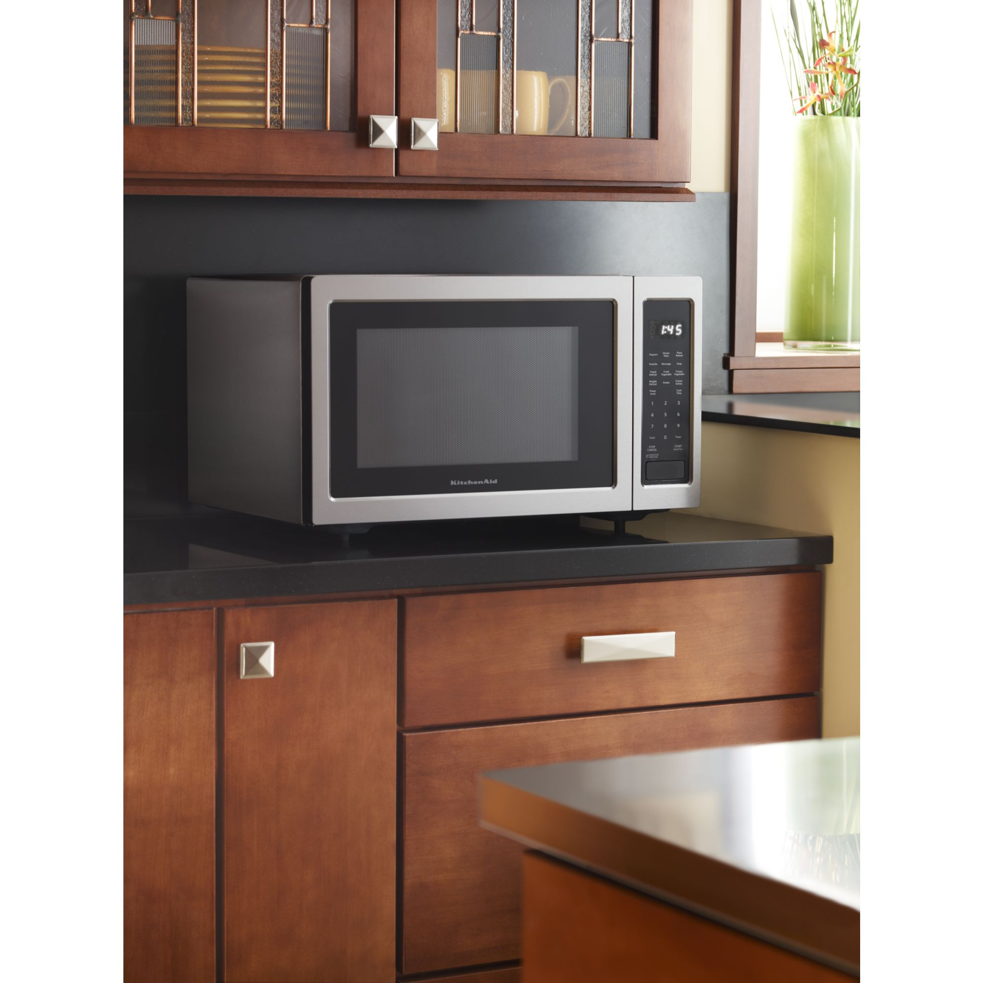 KitchenAid KCMS1655BSS 1.6 cu. ft. 1,200W Countertop Microwave Oven - Stainless Steel
