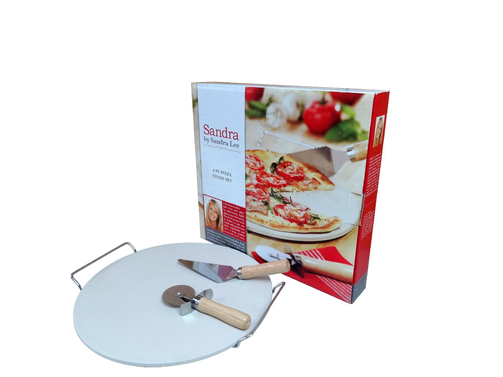 Sandra Lee Sandra Lee 4 pc Pizza Stone Set