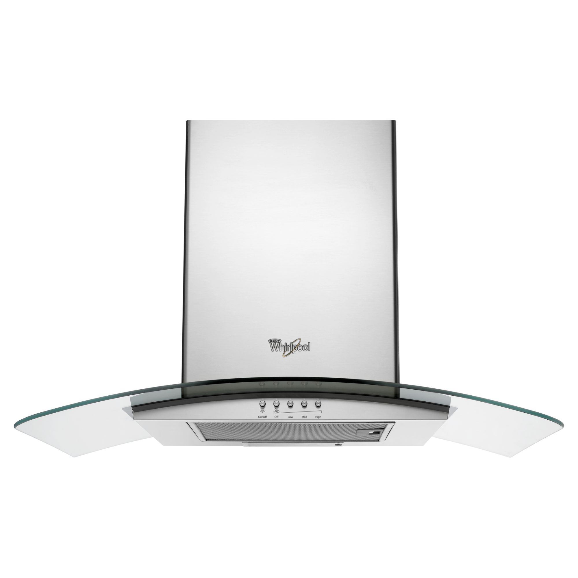 "Whirlpool GXW6530DXS 30"" Wall-Mount Glass Canopy Hood"