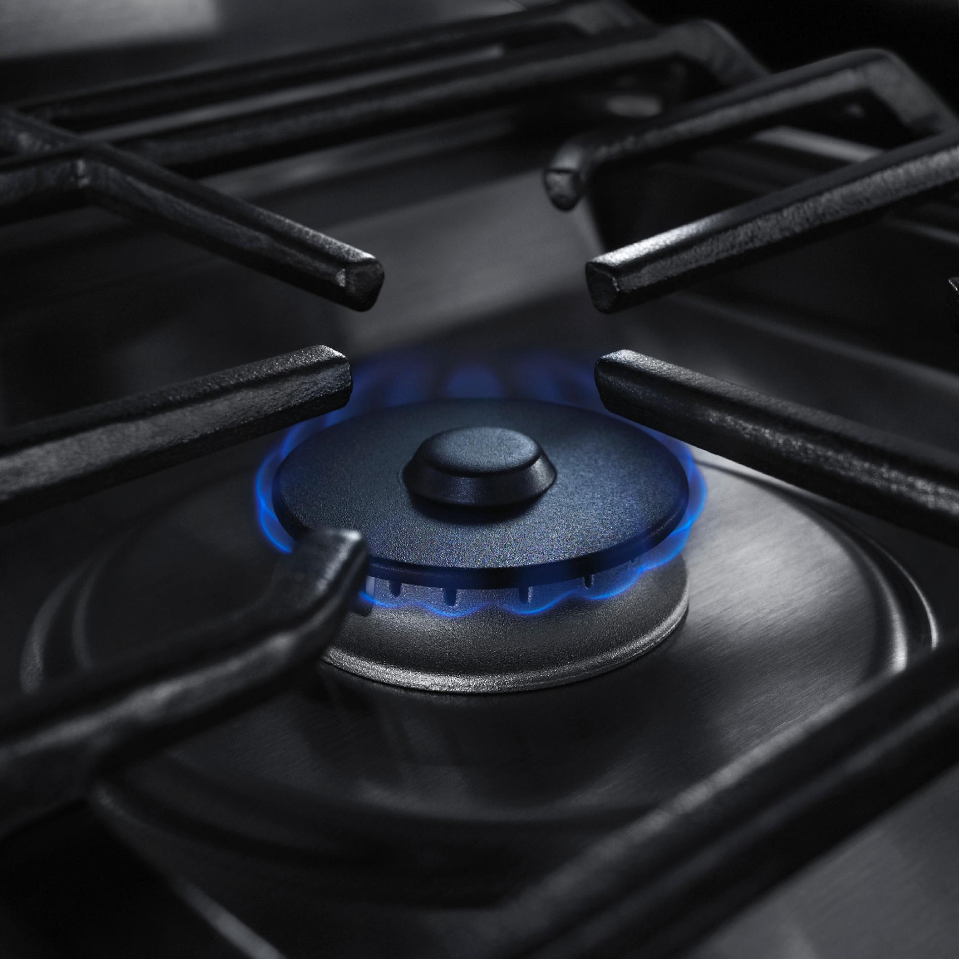 KitchenAid 5.8 cu. ft. Freestanding Gas Range w/ Warming Drawer - Stainless Steel
