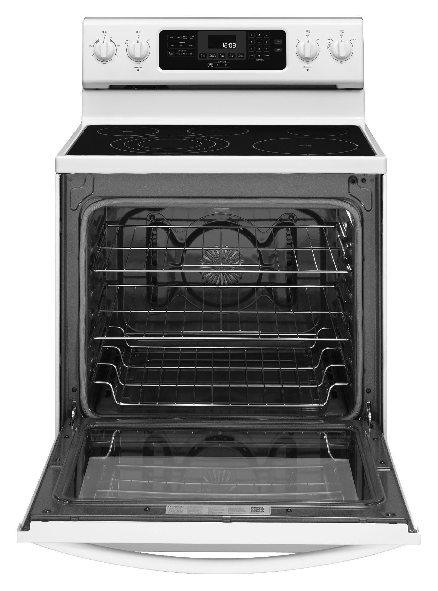 KitchenAid 6.2 cu. ft. Electric Range w/ Even-Heat™ Technology - White
