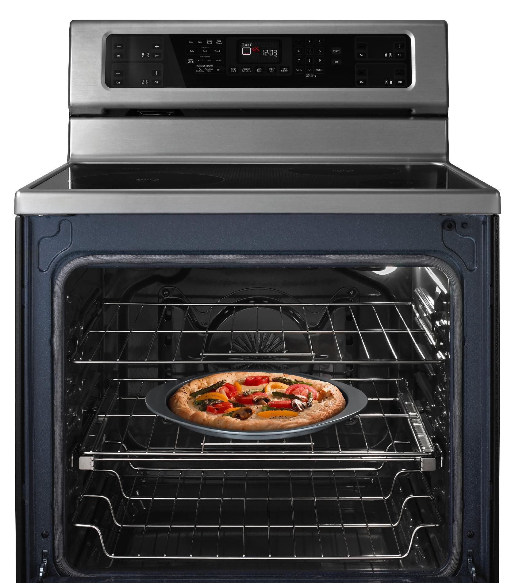 KitchenAid 6.2 cu. ft. Electric Range w/ Even-Heat™ Technology, Warming Drawer - Stainless Steel