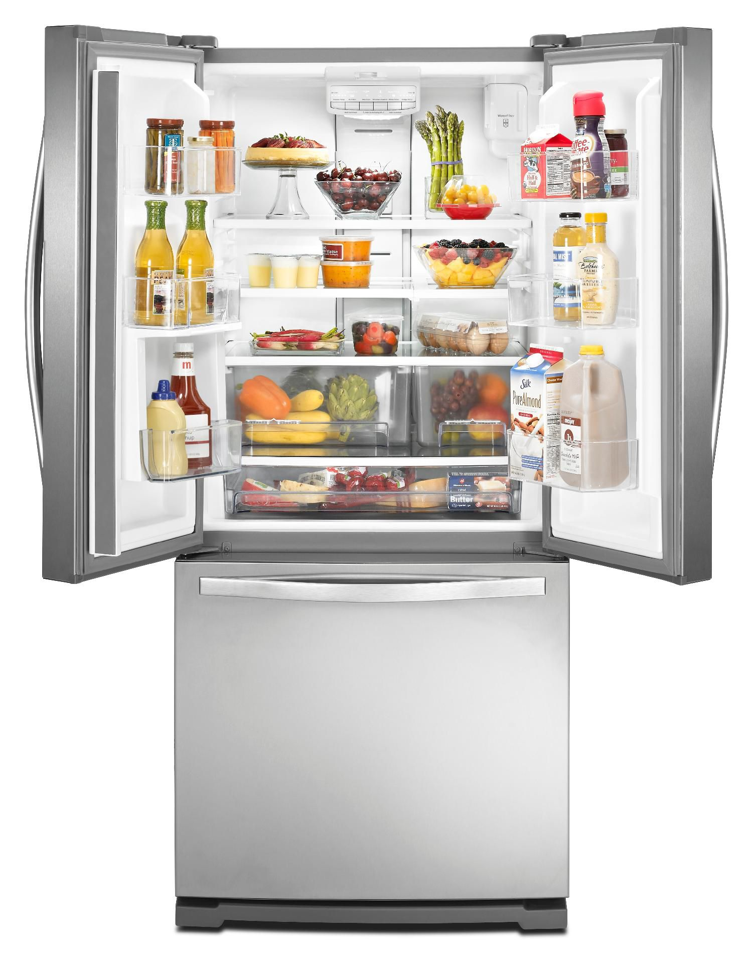 Whirlpool 20 cu. ft. French Door Refrigerator w/ 30 in. Wide Footprint - Stainless Steel