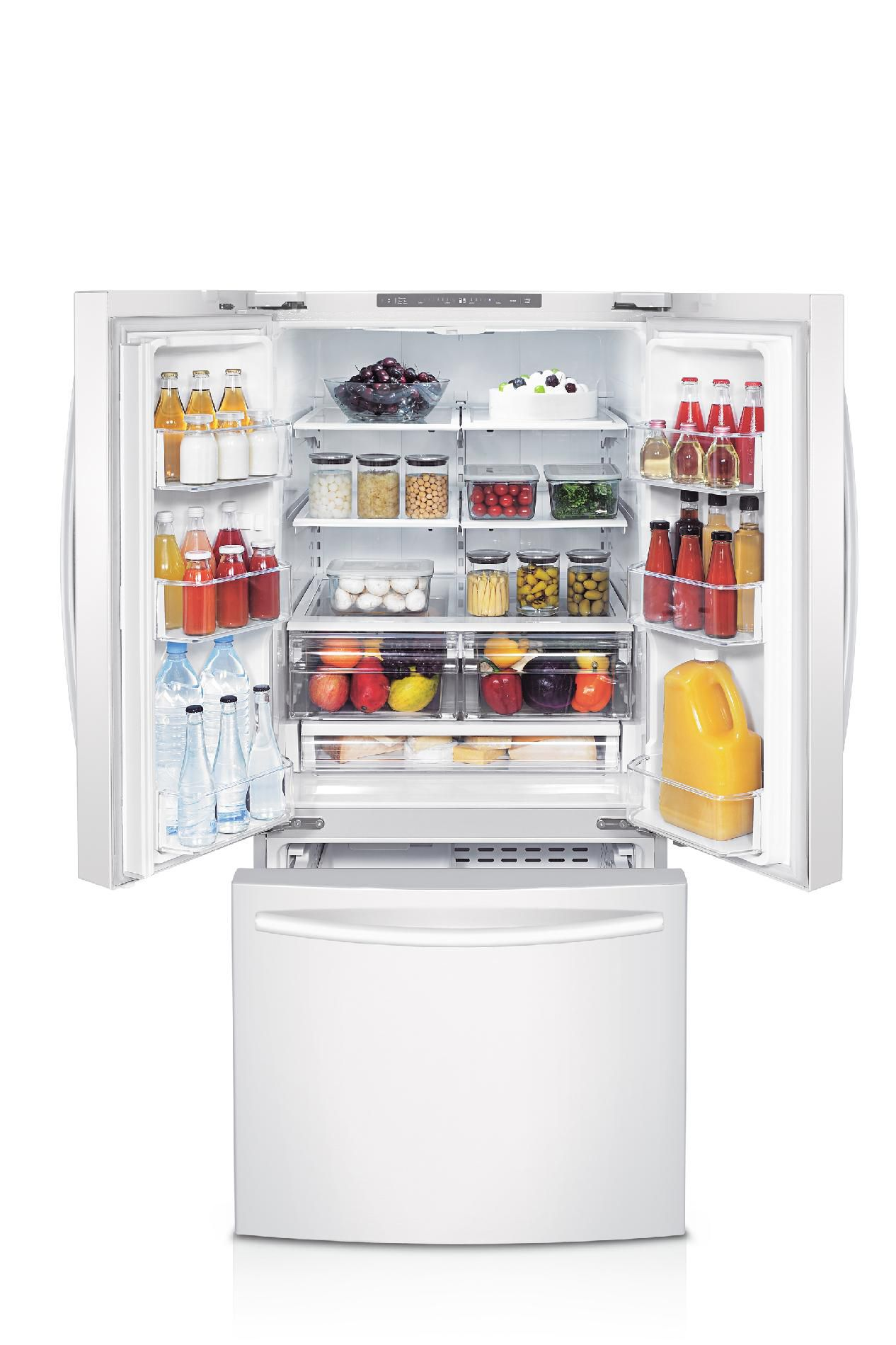 Samsung 22 cu. ft. French Door Refrigerator w/ Internal  Water Dispenser - White