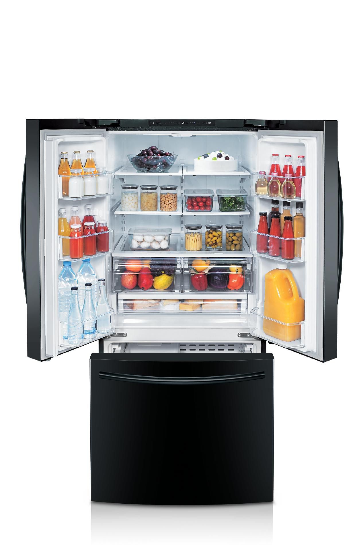 Samsung 22 cu. ft. French Door Refrigerator w/ Internal Water Dispenser - Black