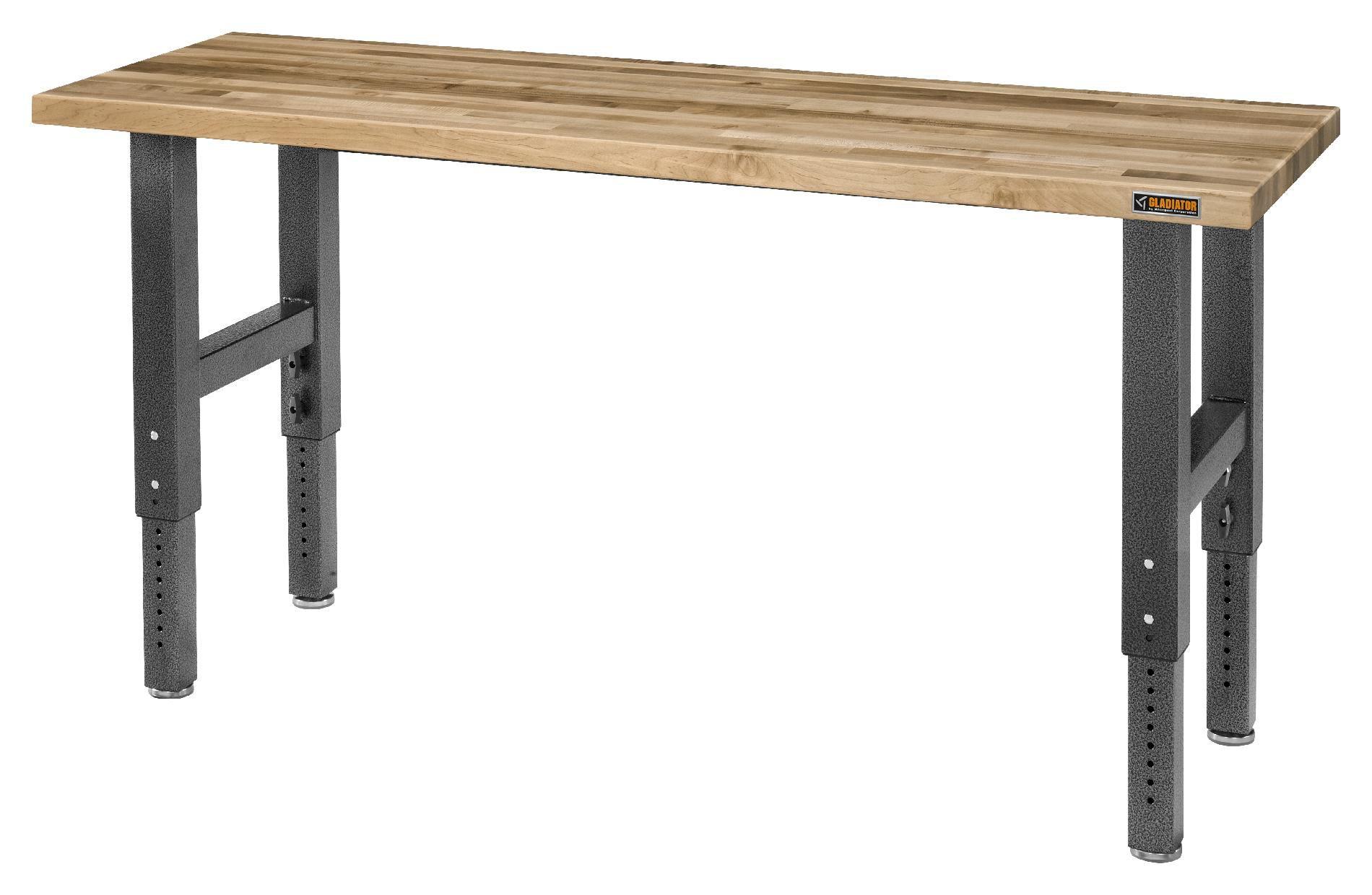 Gladiator Adjustable Height 6' Maple Workbench