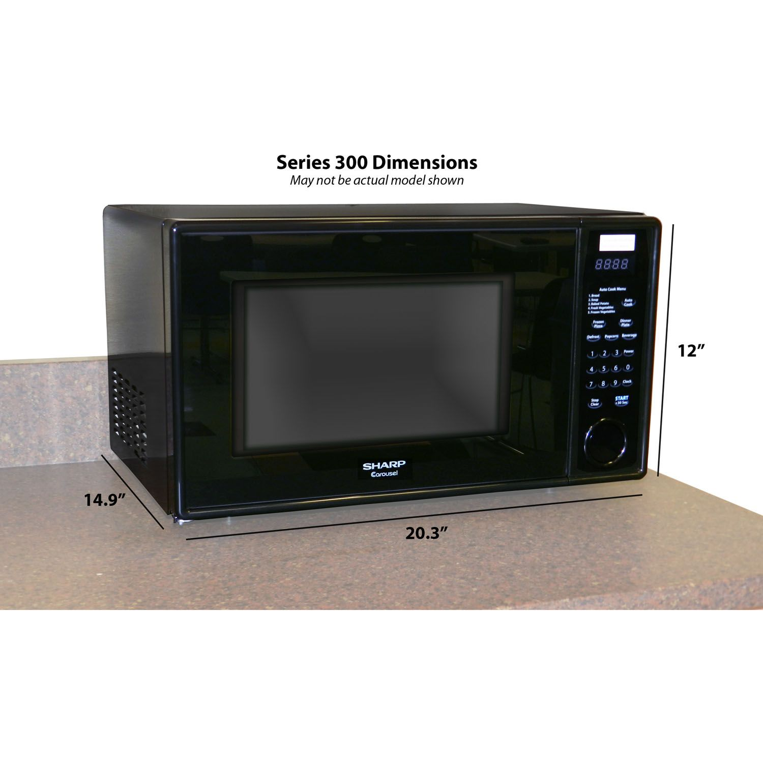 Sharp Mid-Size 1.1 Cu. Ft. 1000W Microwave Oven in Pearl Silver
