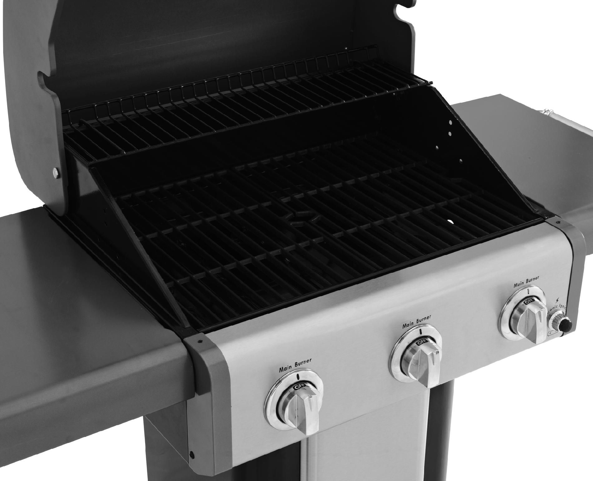 Kenmore 3 Burner Black Patio Grill